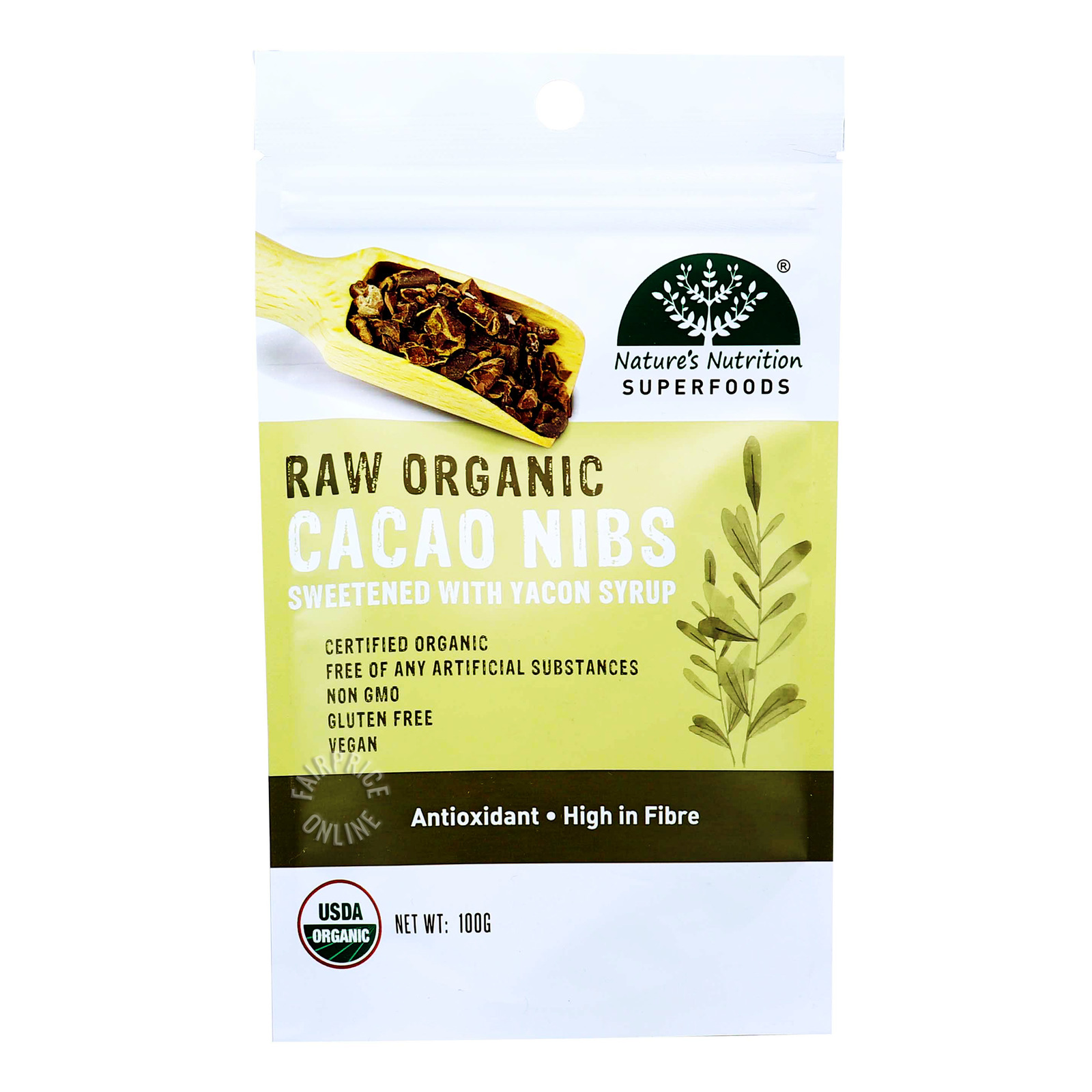 Nature's Nutrition Superfoods - Raw Organic Cacao Nibs