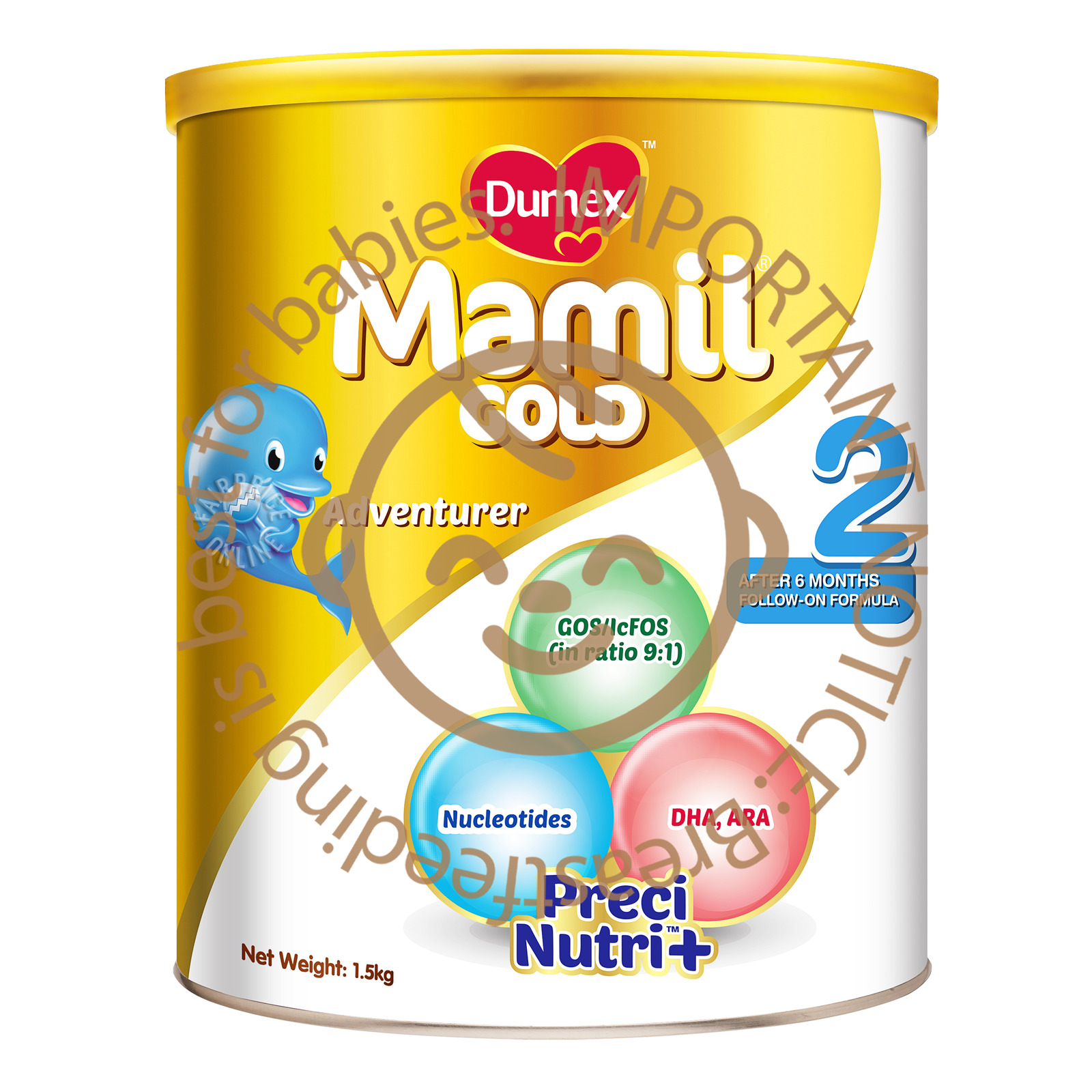DUMEX Mamil Gold Stage 3 Growing Up Baby Milk Formula 1.6kg