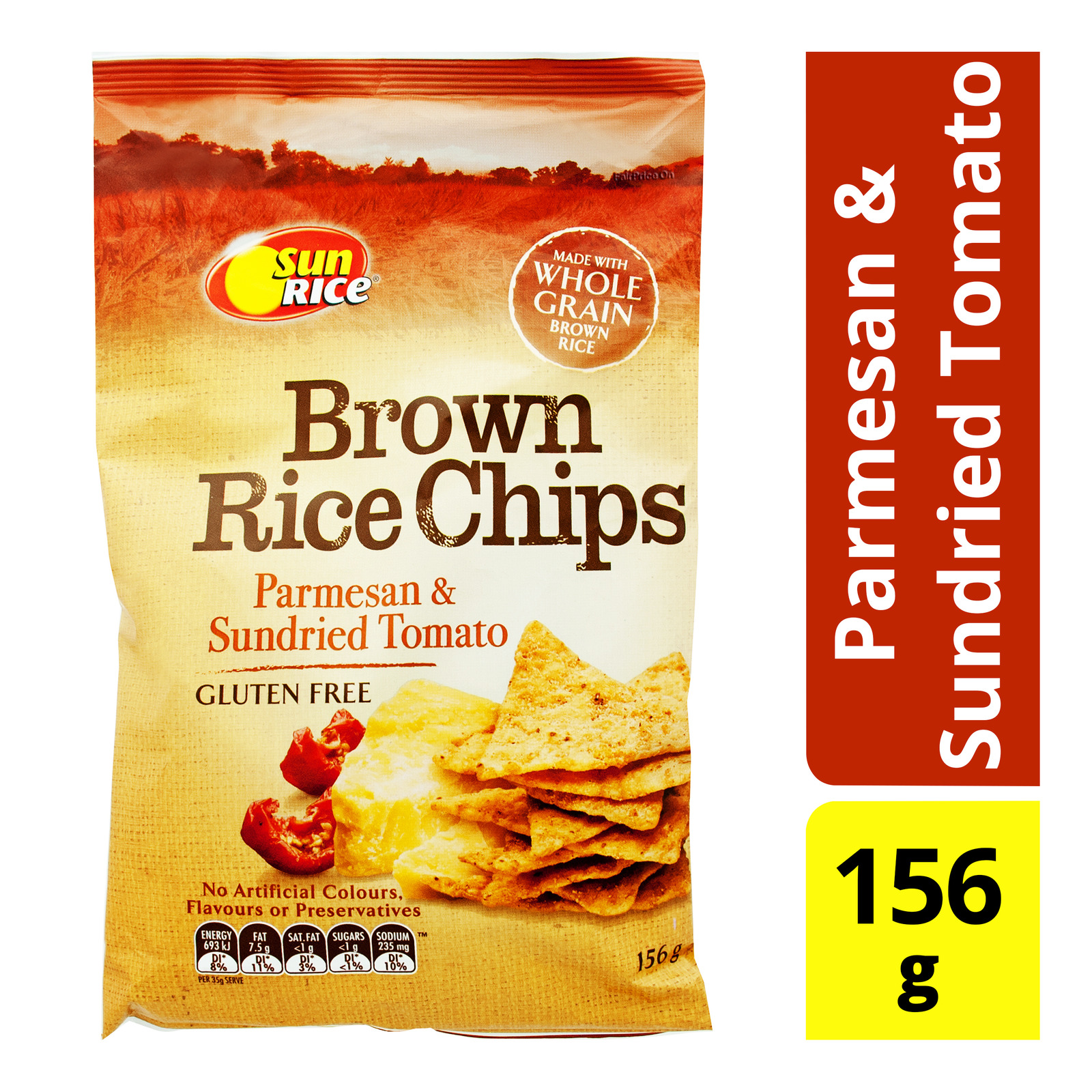SunRice Brown Rice Chips - Parmesan & Sundried Tomato