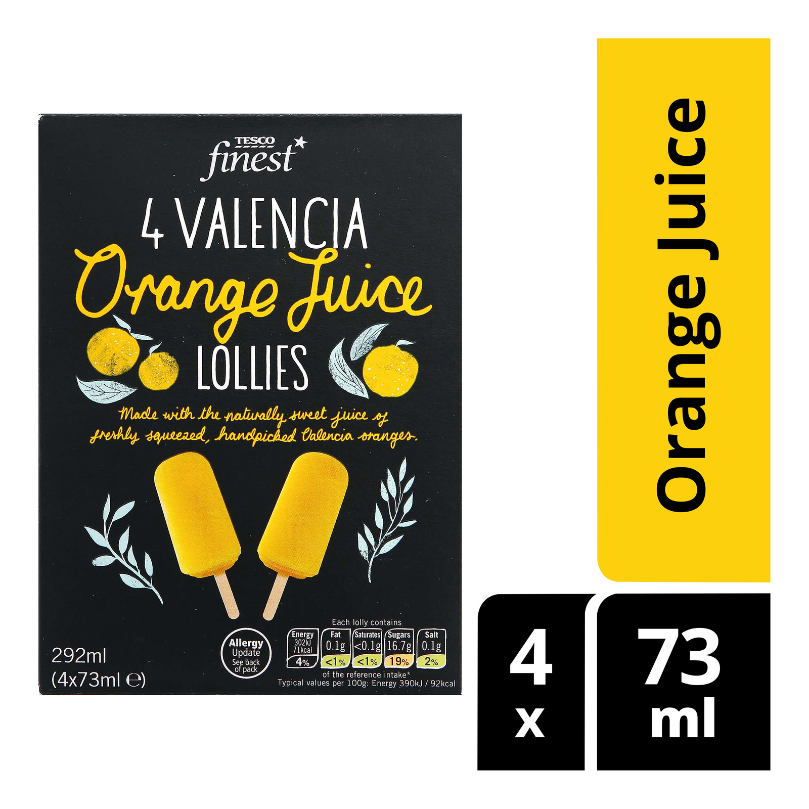 Tesco Finest Valencia Lollies - Orange Juice