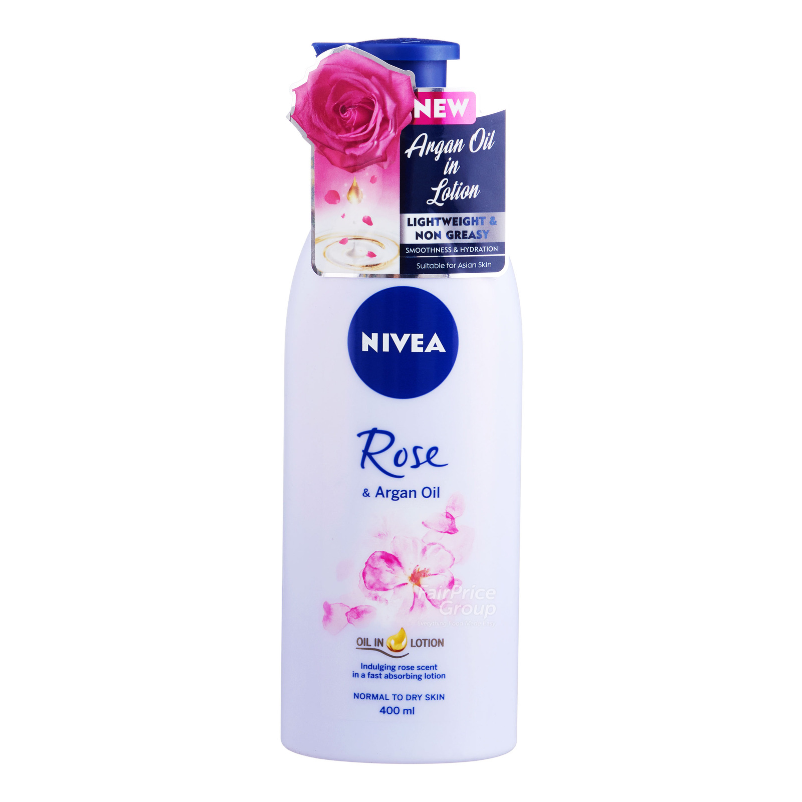 Nivea Body Oil In Lotion Rose & Argan Oil, 400ml