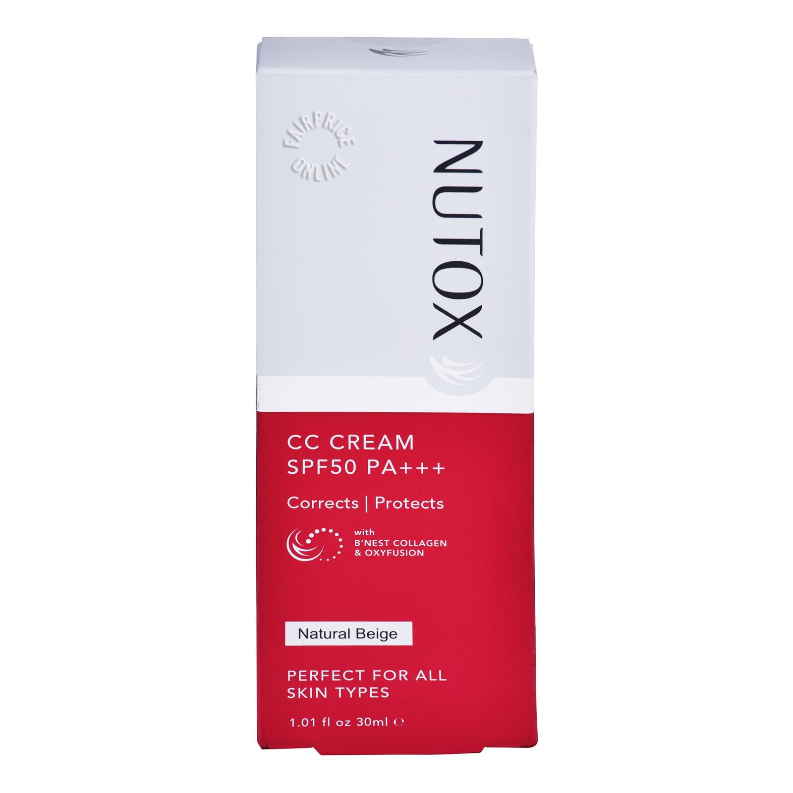 Nutox CC Cream - Natural Beige (SPF 50)