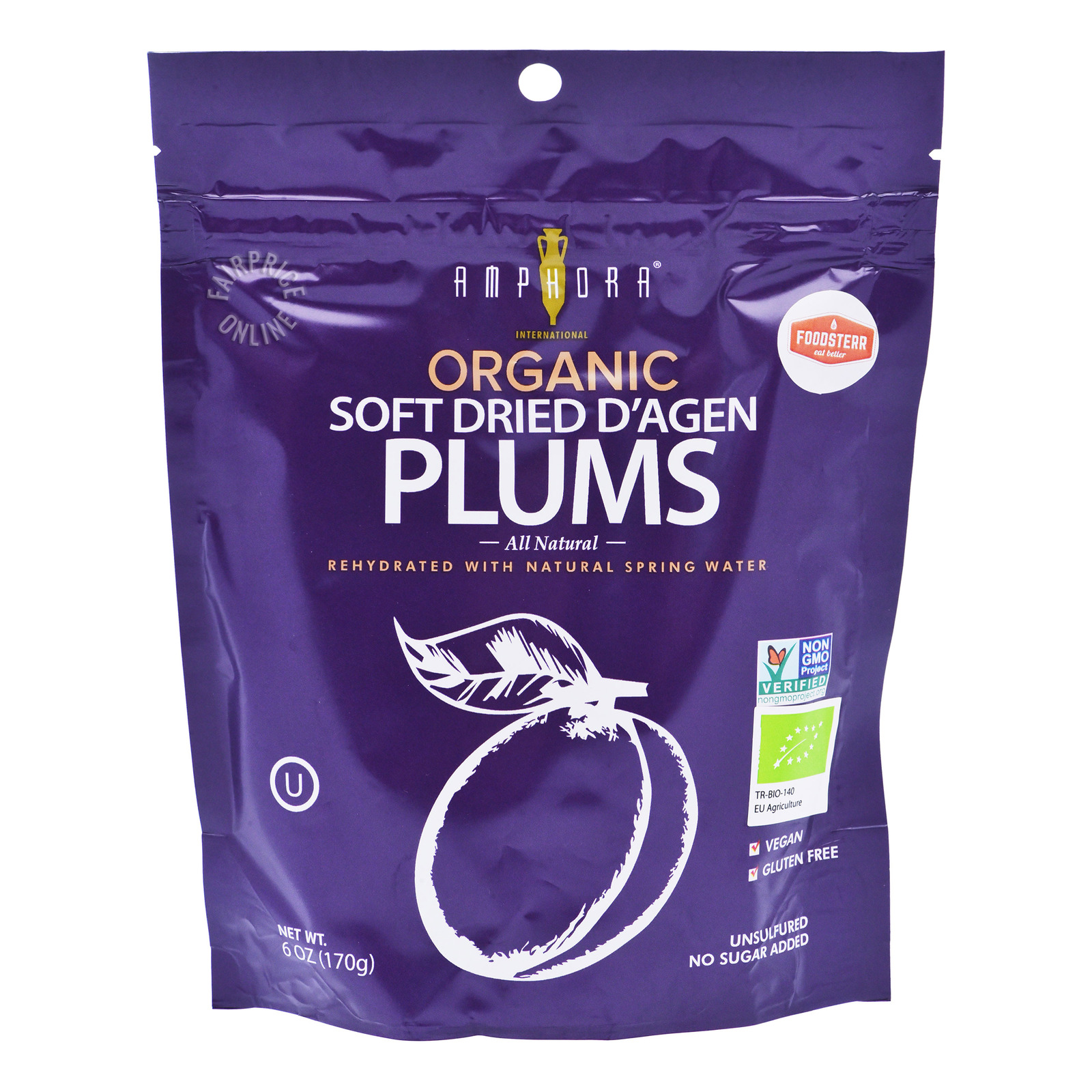 Amphora Organic Soft Dried D'Agen Plums