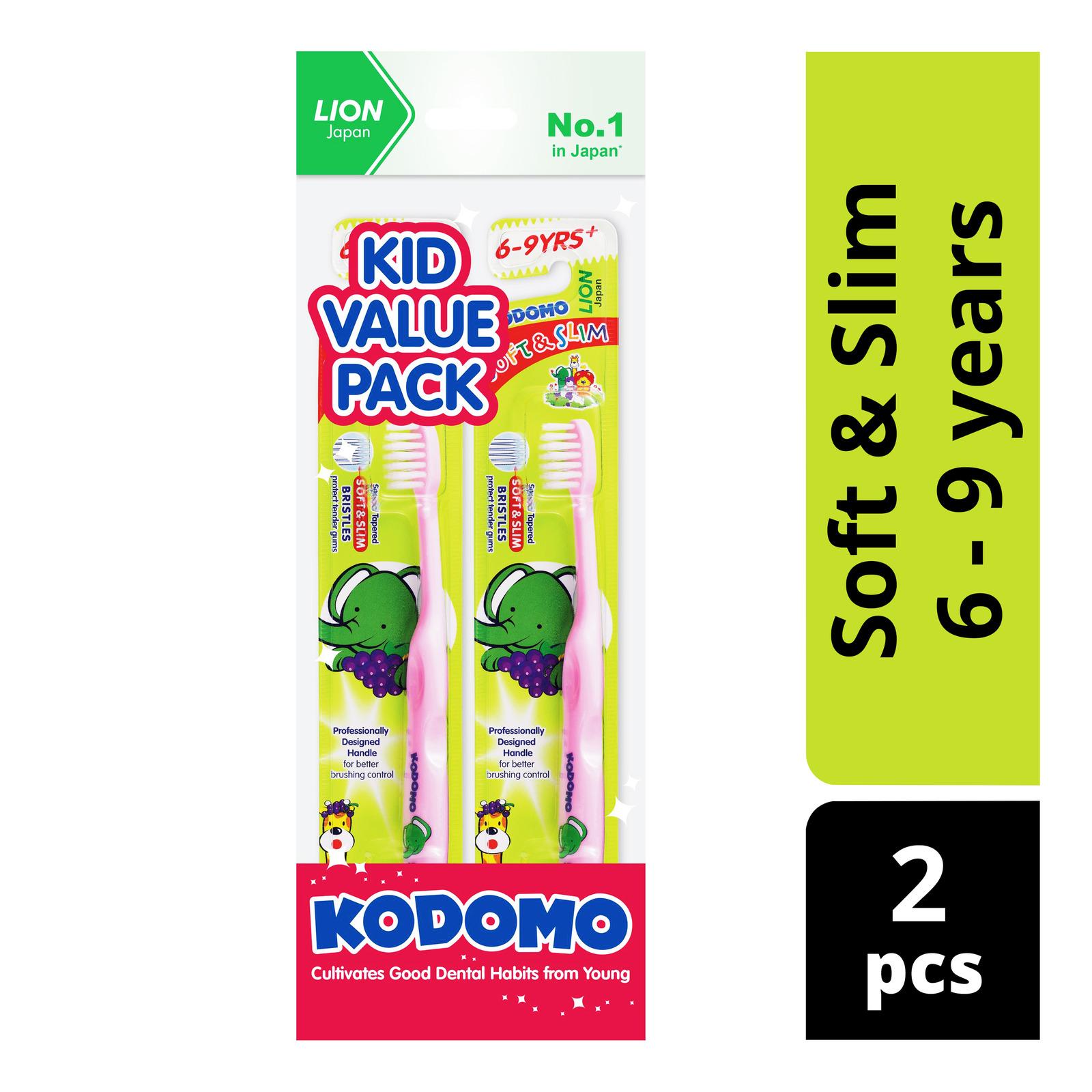 Kodomo Children Toothbrush - Soft & Slim (6 - 9 years)