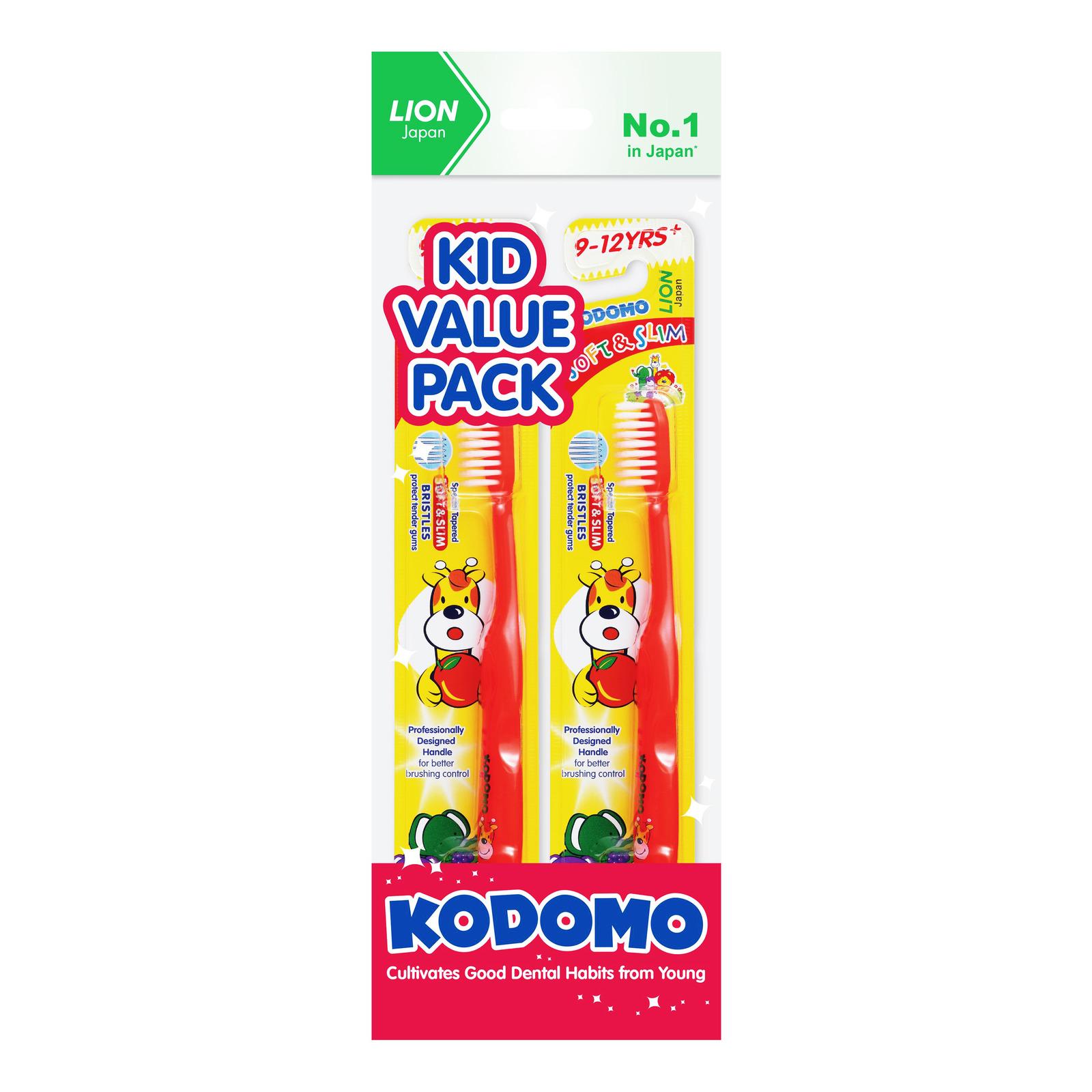 Kodomo Children Toothbrush - Soft & Slim (9 - 12 years)