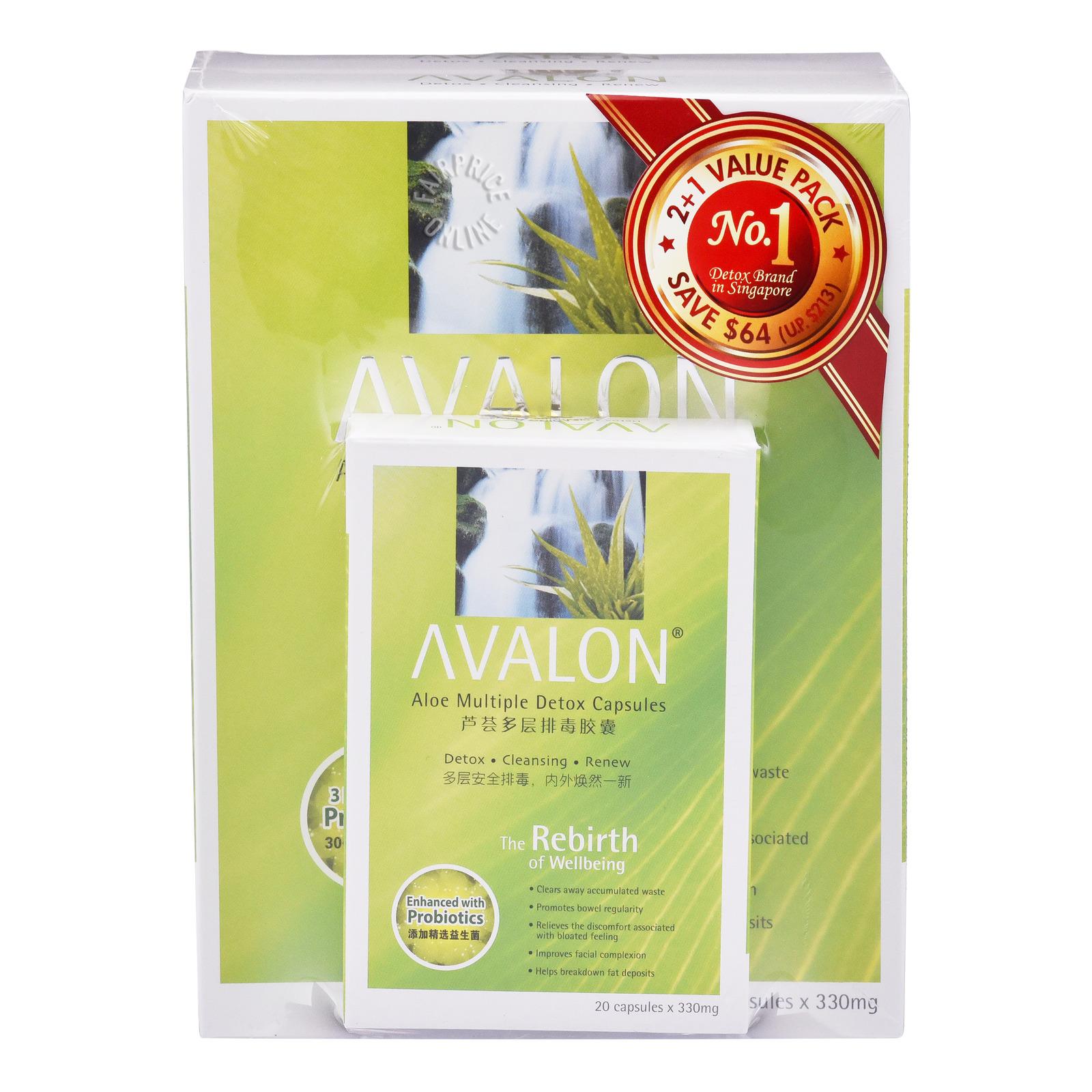 Avalon Aloe Multiple Detox Capsules