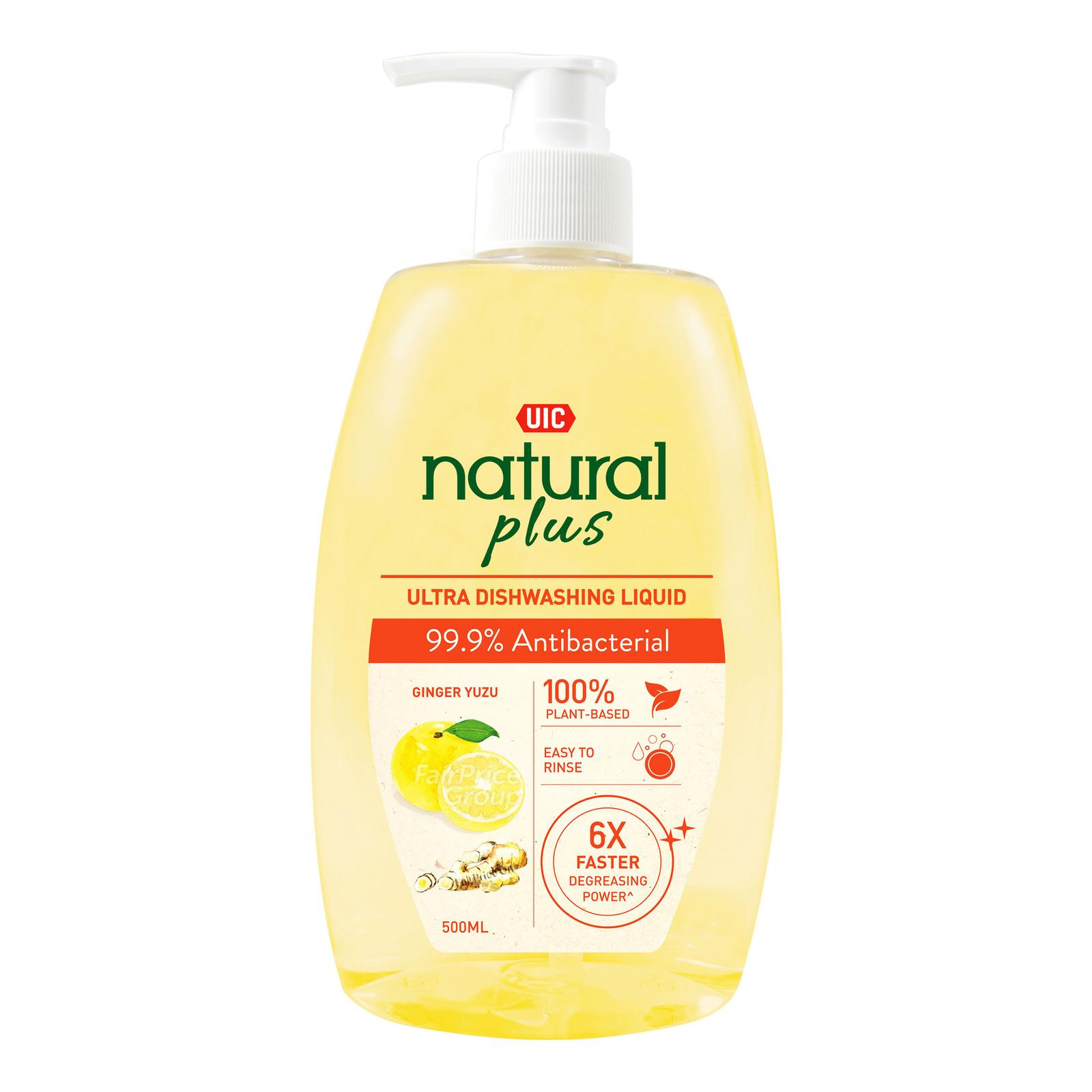 UIC Dishwashing Liquid Natural Anti Bacterial Refill 3sX600ml