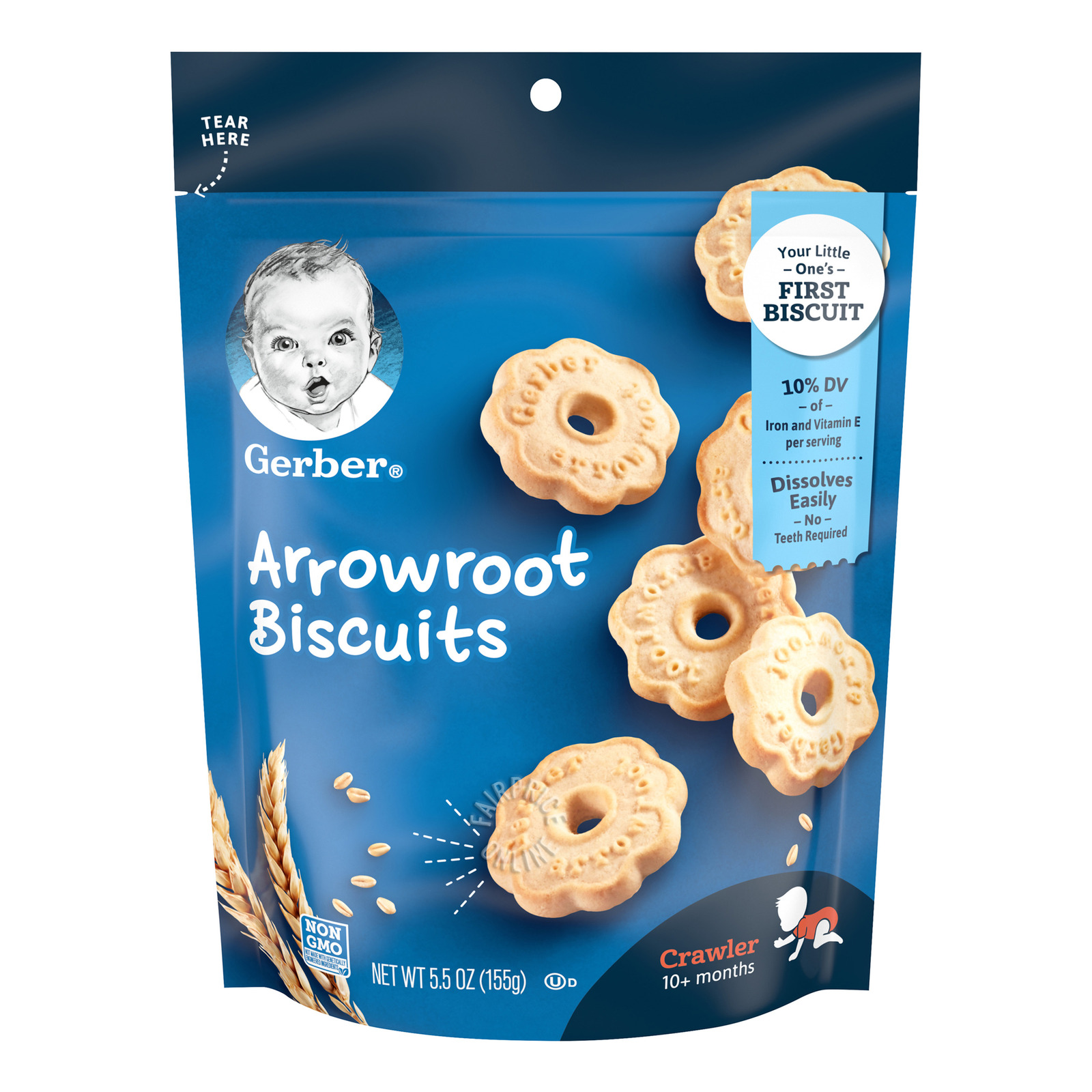 GERBER Graduates Arrowroots Cookies 155g