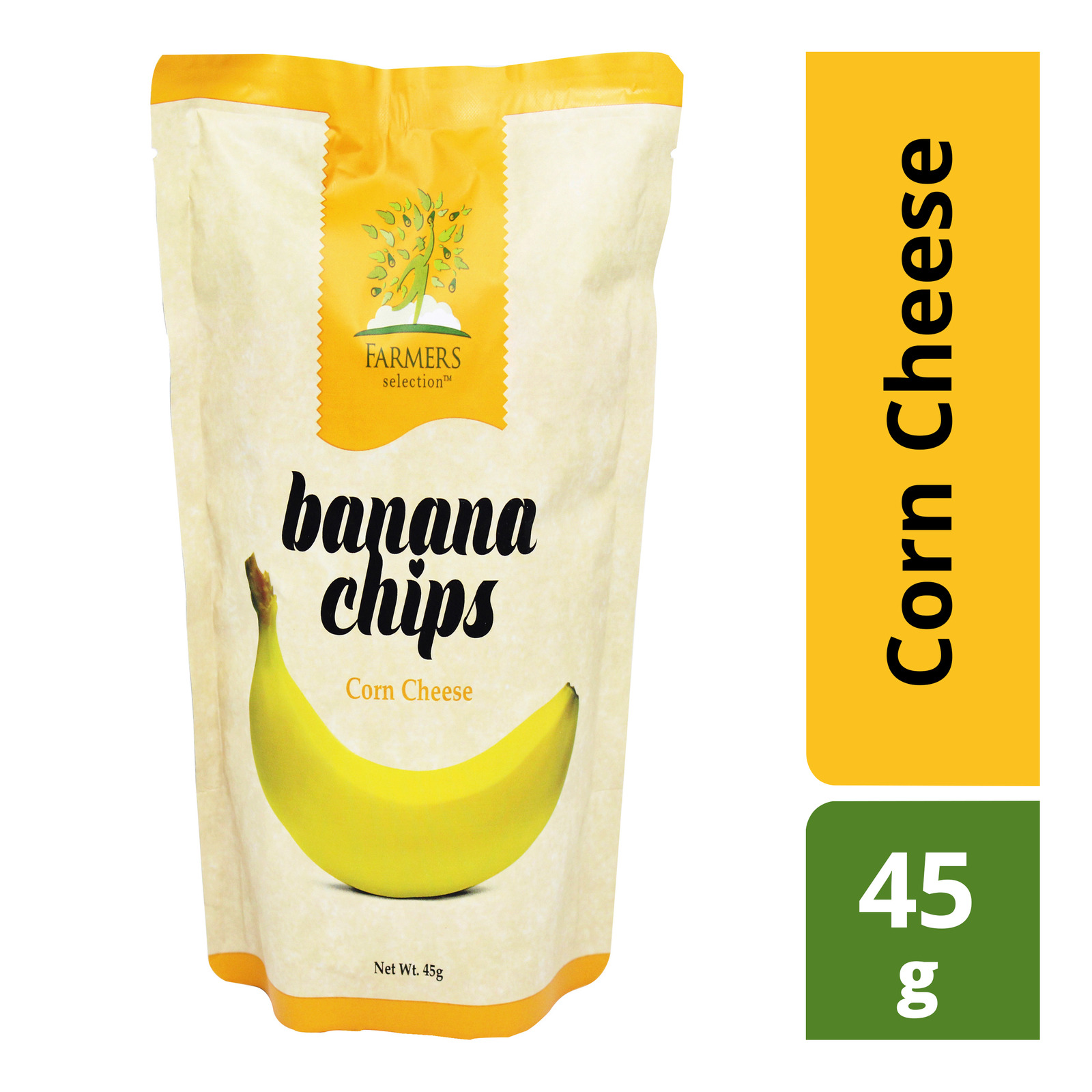 Farmers Selection Banana Chips - Corn Cheese