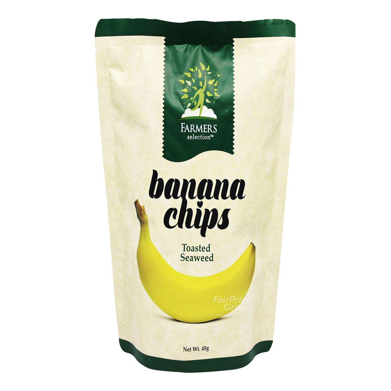 Farmers Selection Banana Chips - Toasted Seaweed