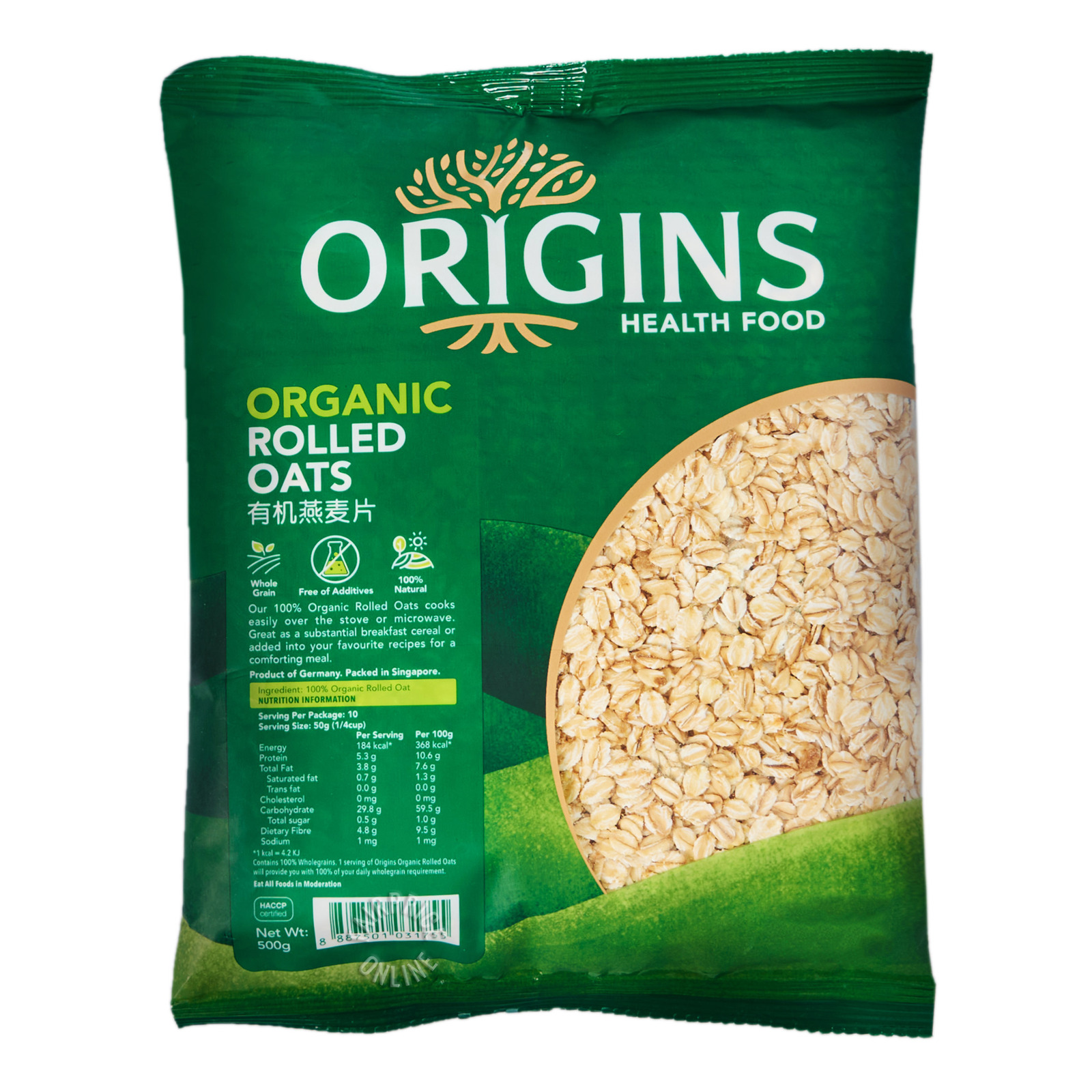 Origins Healthfood Organic Rolled Oats