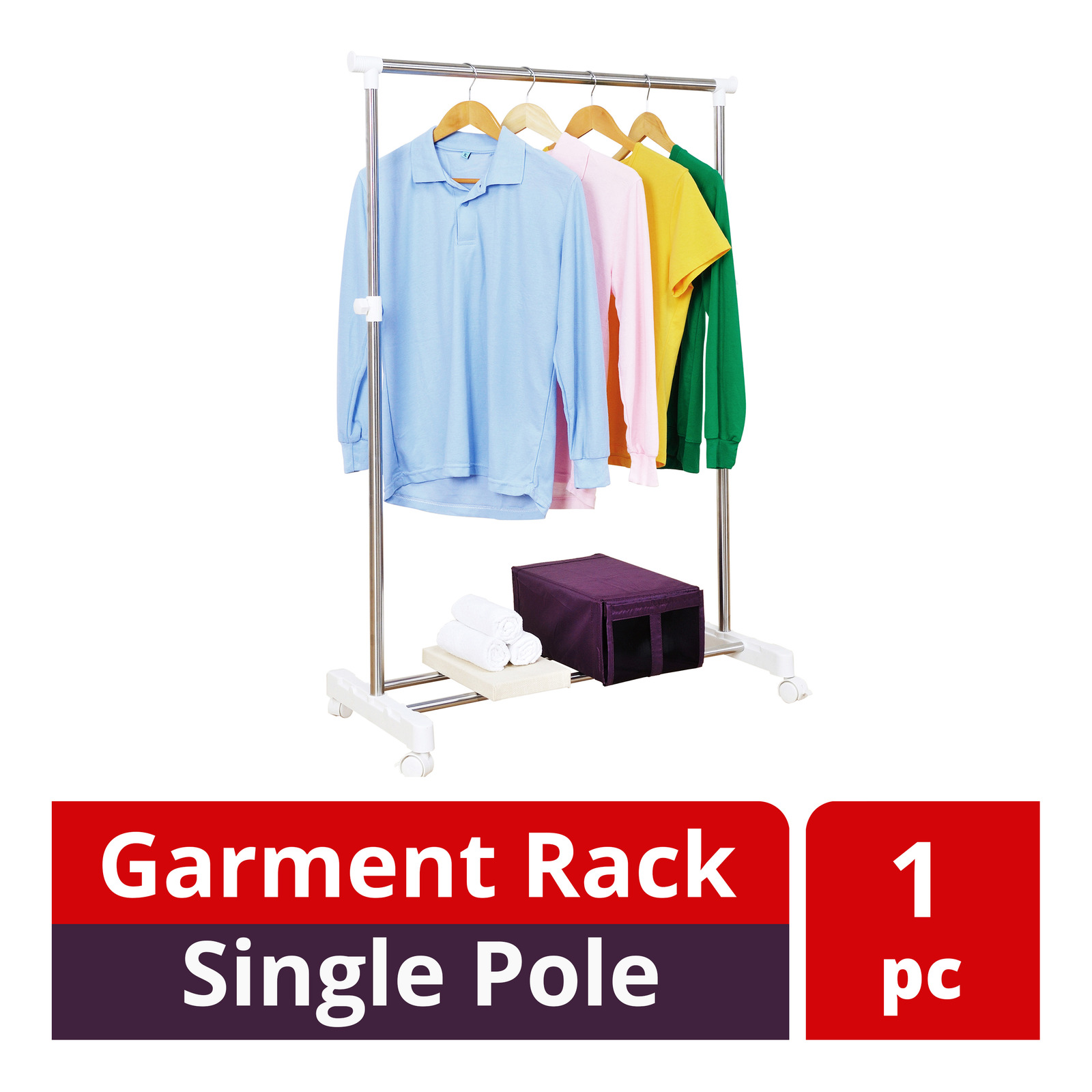 HomeProud Garment Rack - Single Pole