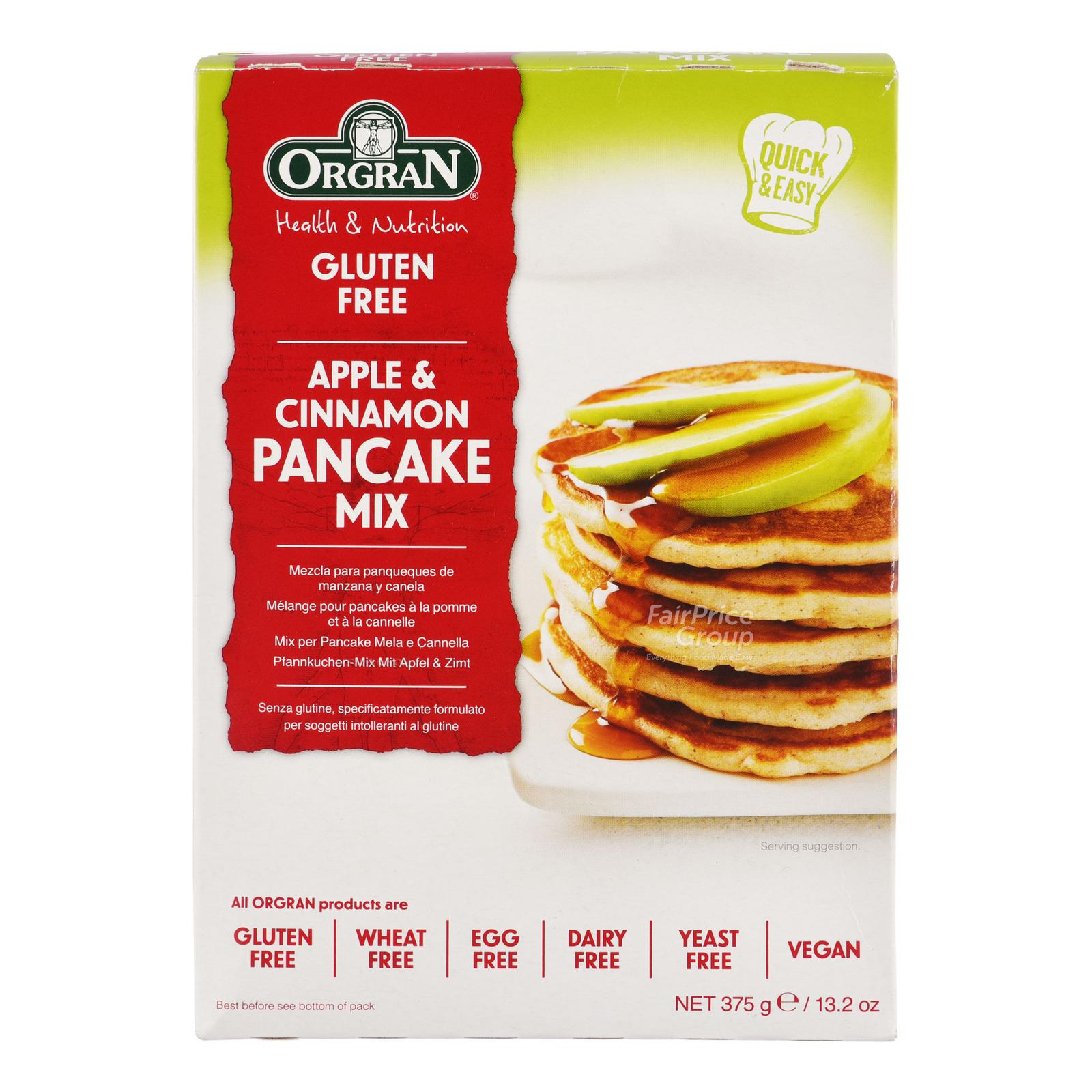 Orgran Gluten Free Pancake Mix - Apple & Cinnamon