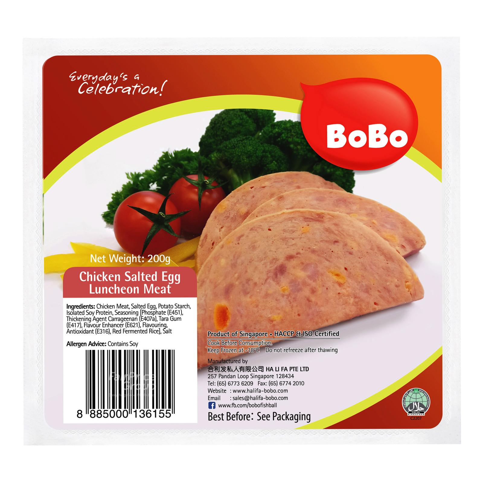 BoBo Frozen Chicken Luncheon Meat - Salted Egg