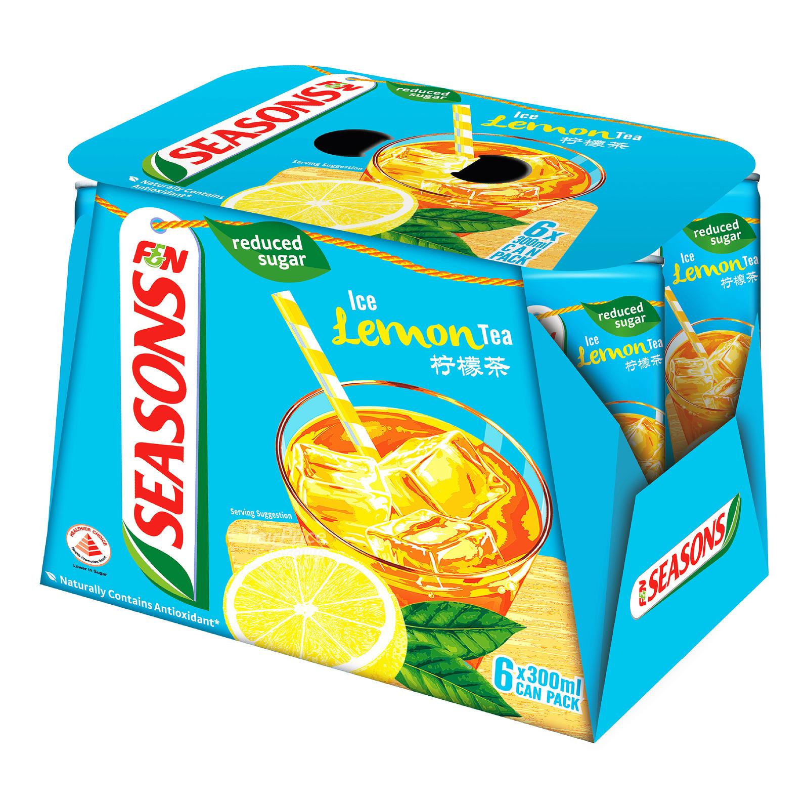 F&N Seasons Can Drink - Ice Lemon Tea (Reduced Sugar)