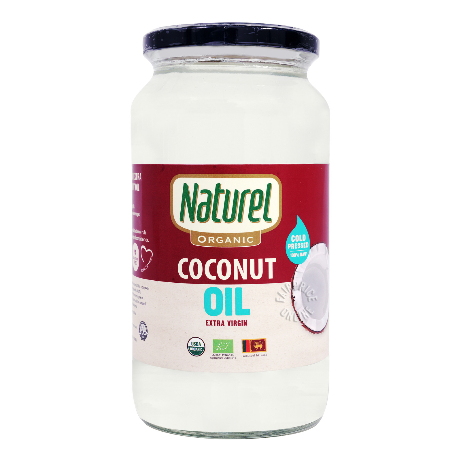 NATUREL Organic Extra Virgin Coconut Oil 1L