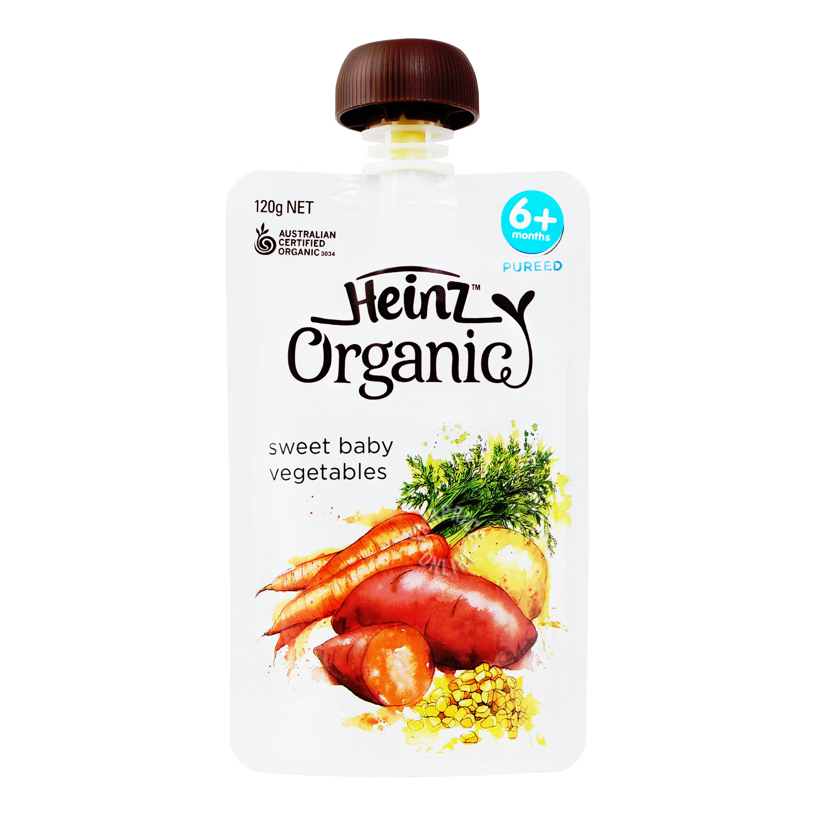 Heinz Organic Sweet Vegetable Baby Puree Pouch - 6 Months & Above