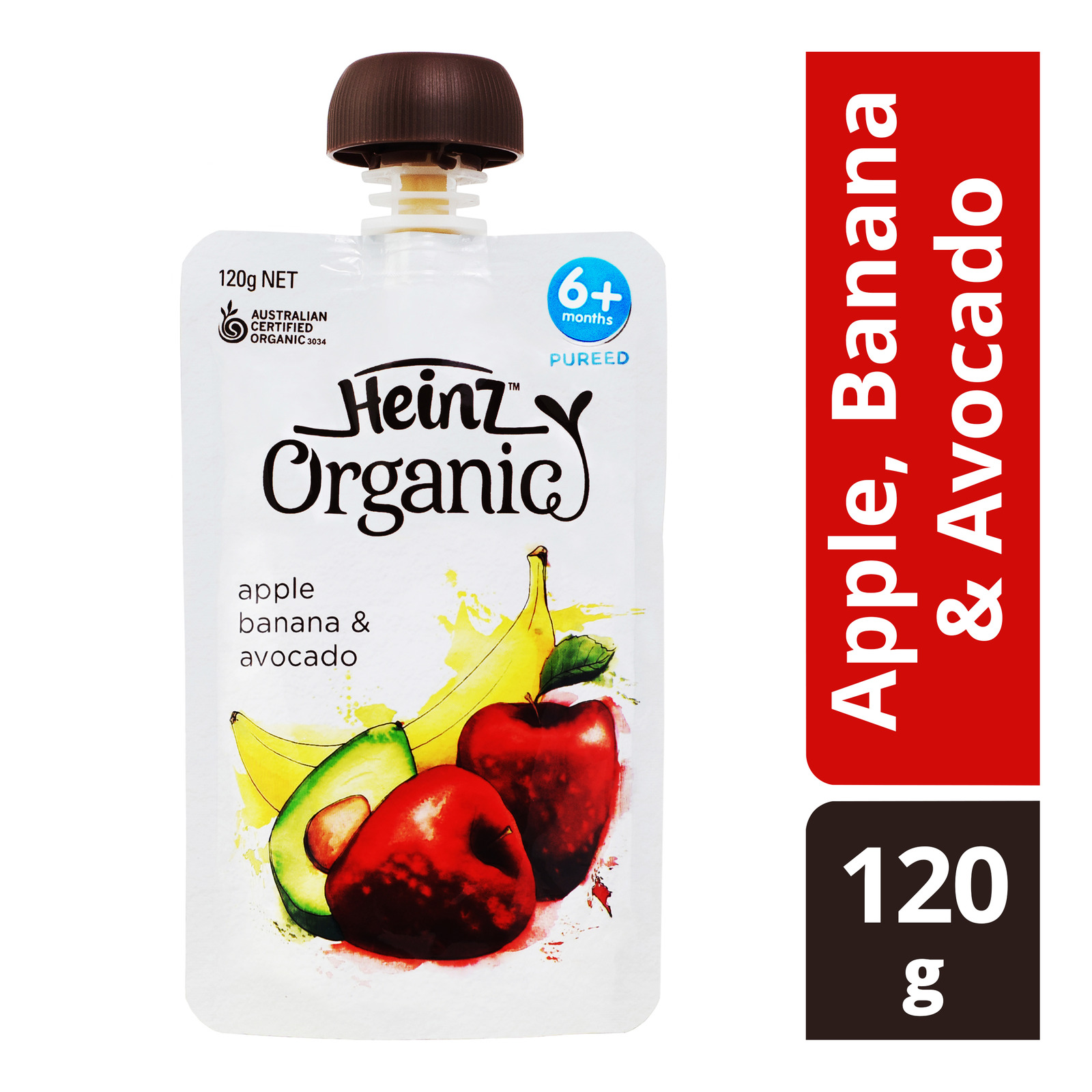 Heinz Organic Baby Puree Pouch - Apple, Banana & Avocado