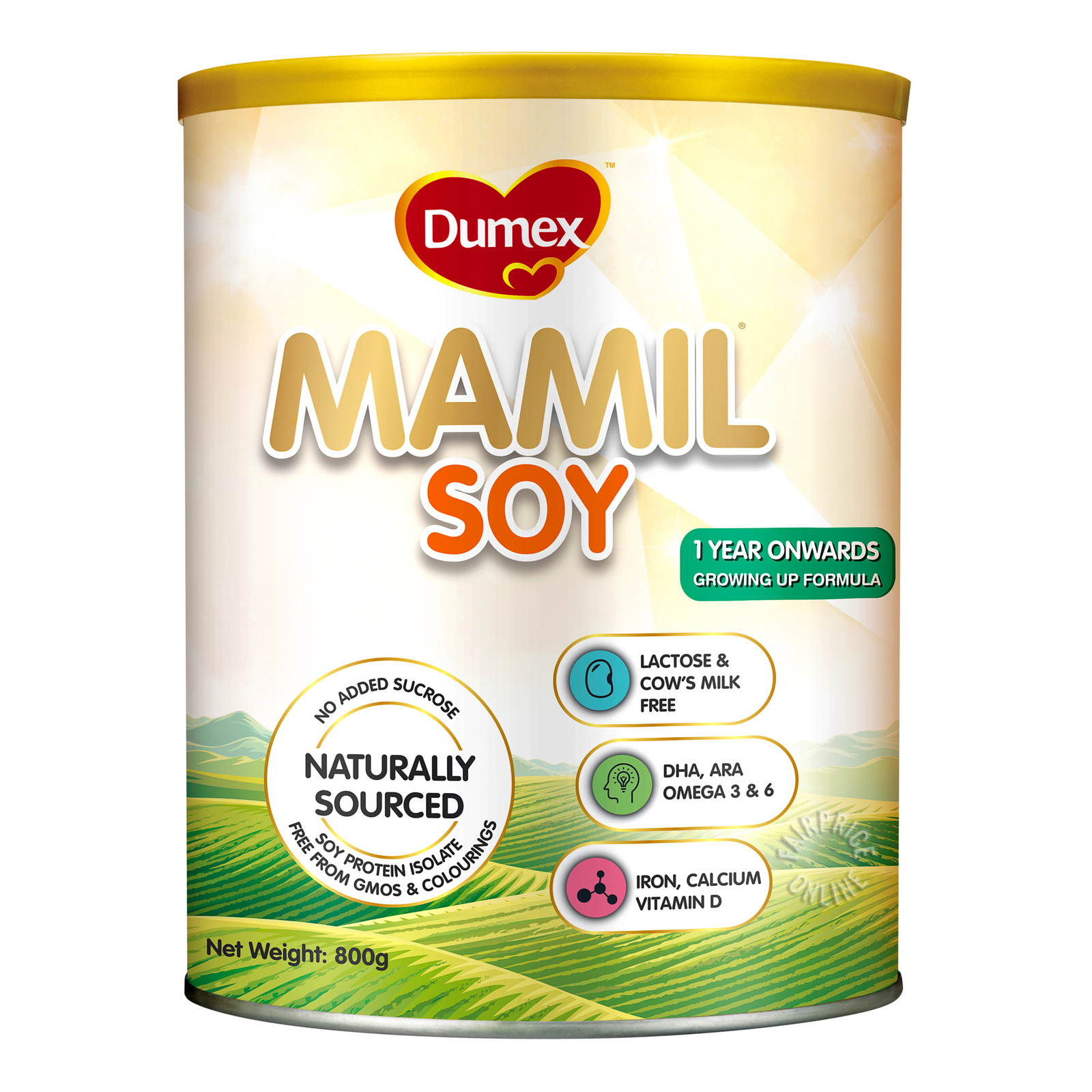 Dumex Mamil Gold Soy Growing Up Milk Formula- 1 Year Onwards