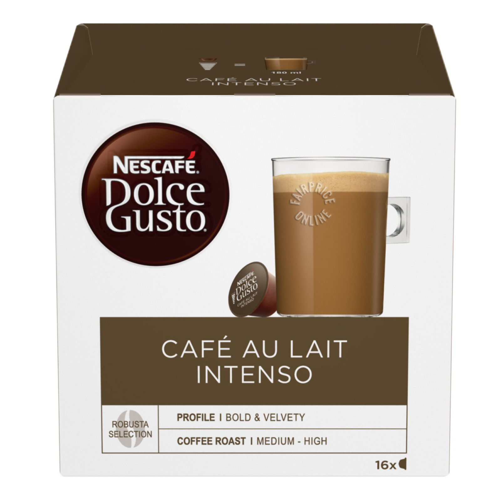 Nescafe Dolce Gusto Beverage Capsules - Cafe Au Lait Intenso