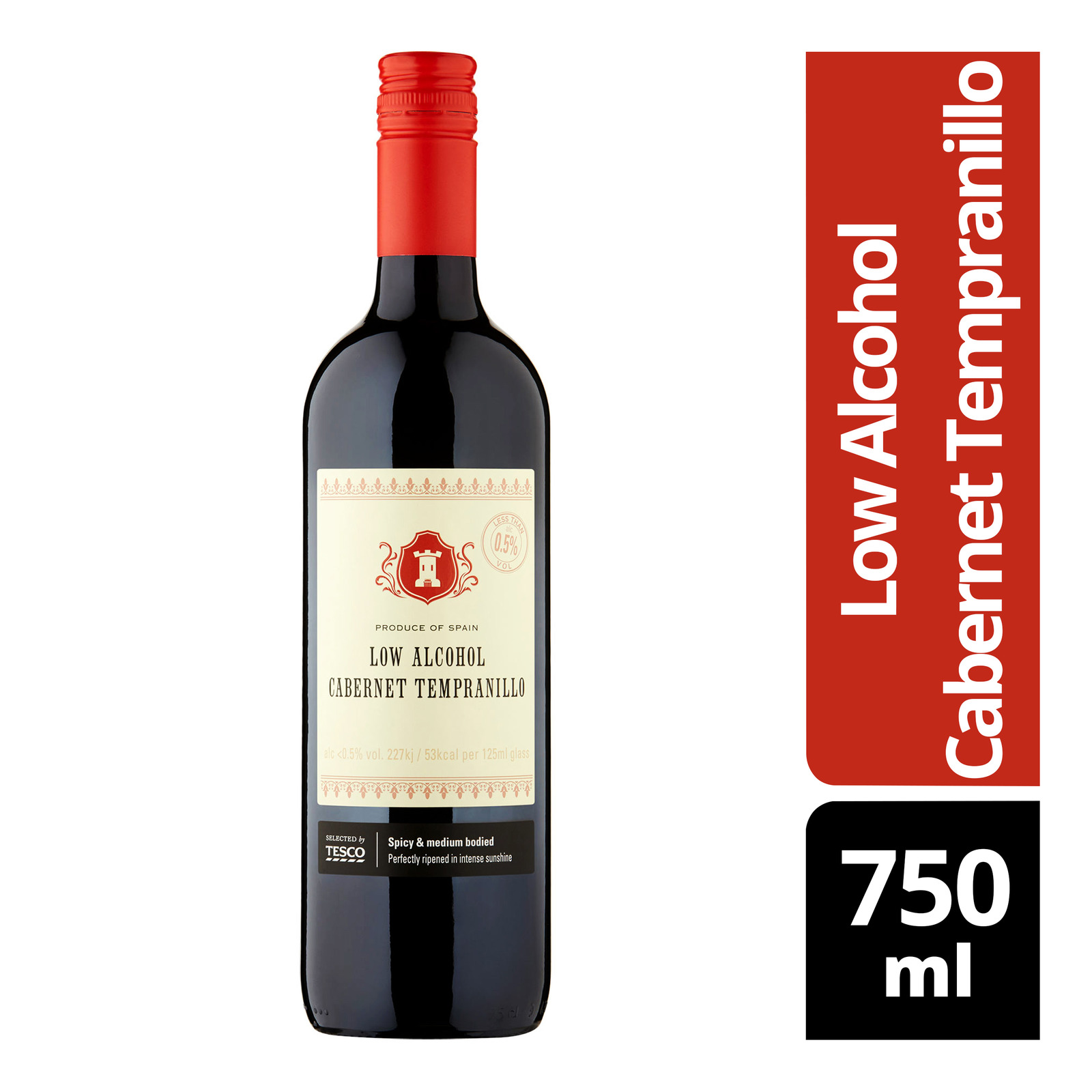 Tesco Red Wine - Low Alcohol Cabernet Tempranillo