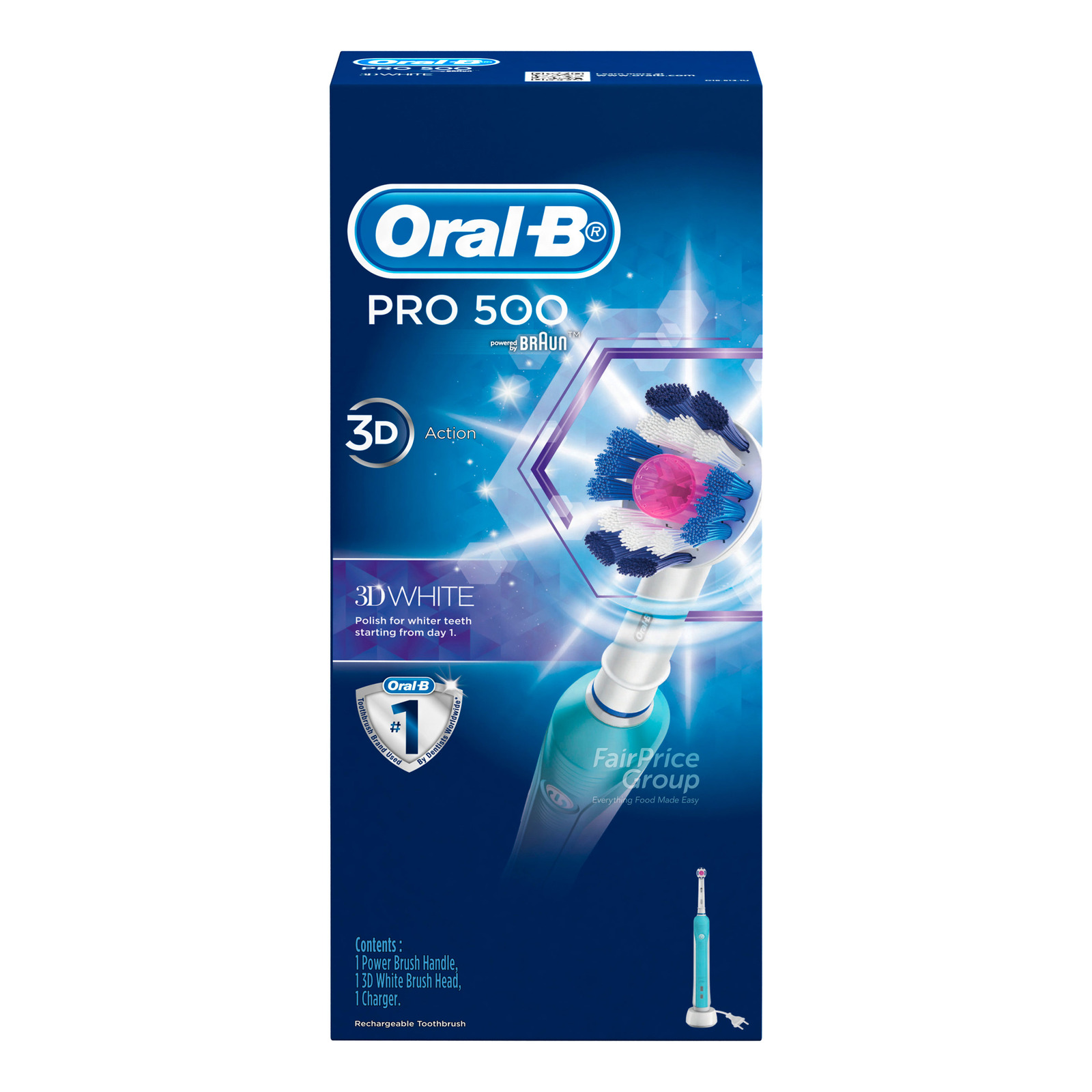 Oral-B Electric Toothbrush - Pro 500 3D White
