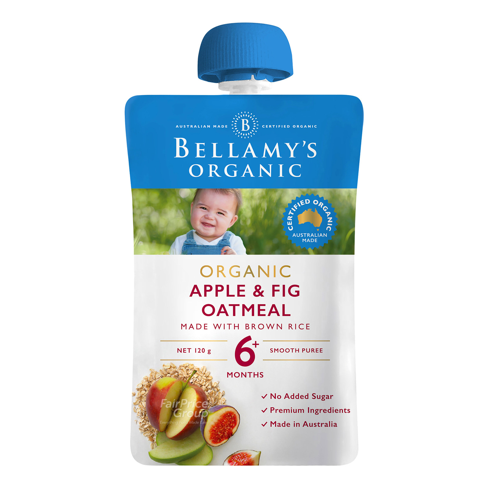 Bellamy's Organic Ready to Eat Baby Food - Apple & Fig Oatmeal