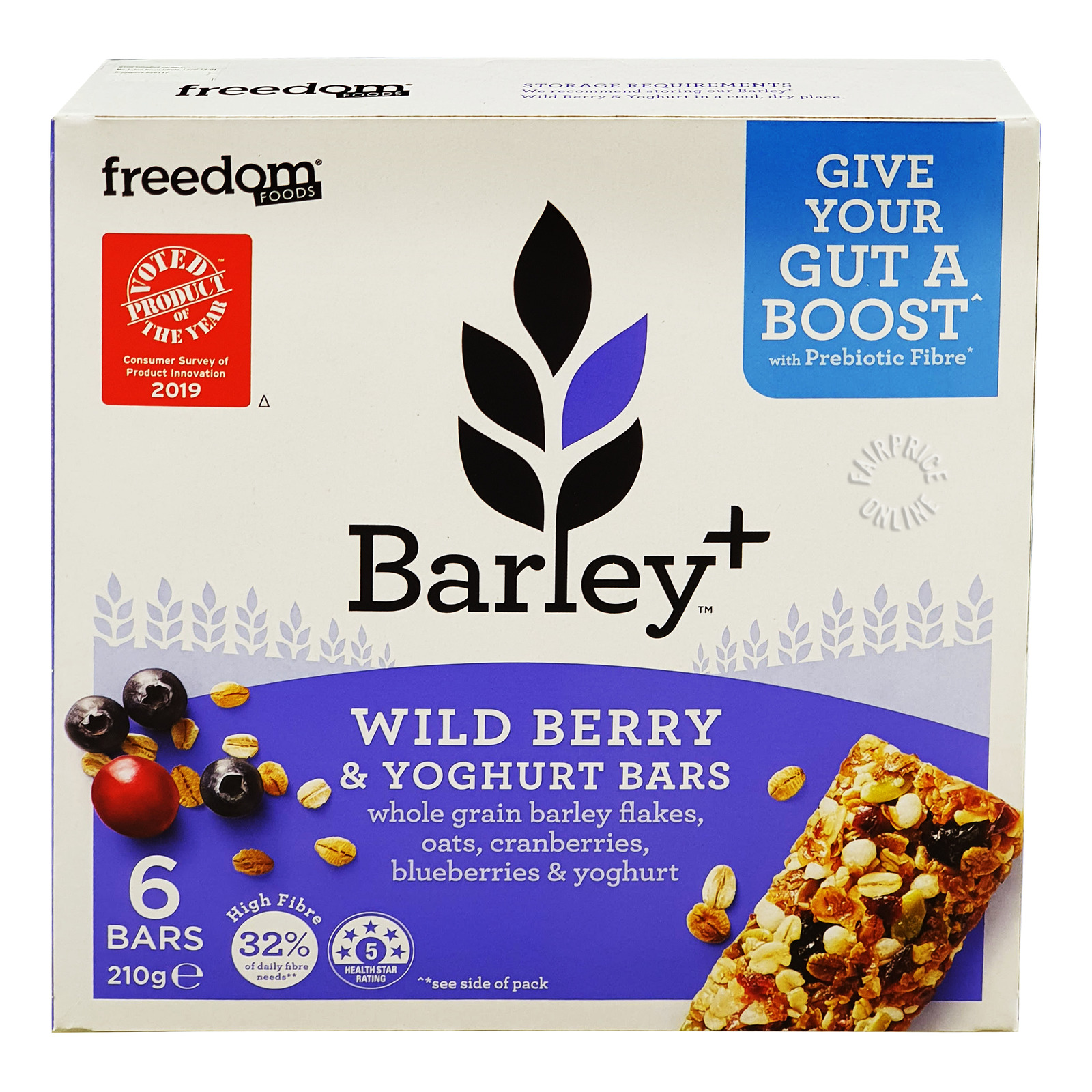 Freedom Foods Barley+ Bars - Wild Berry & Yoghurt