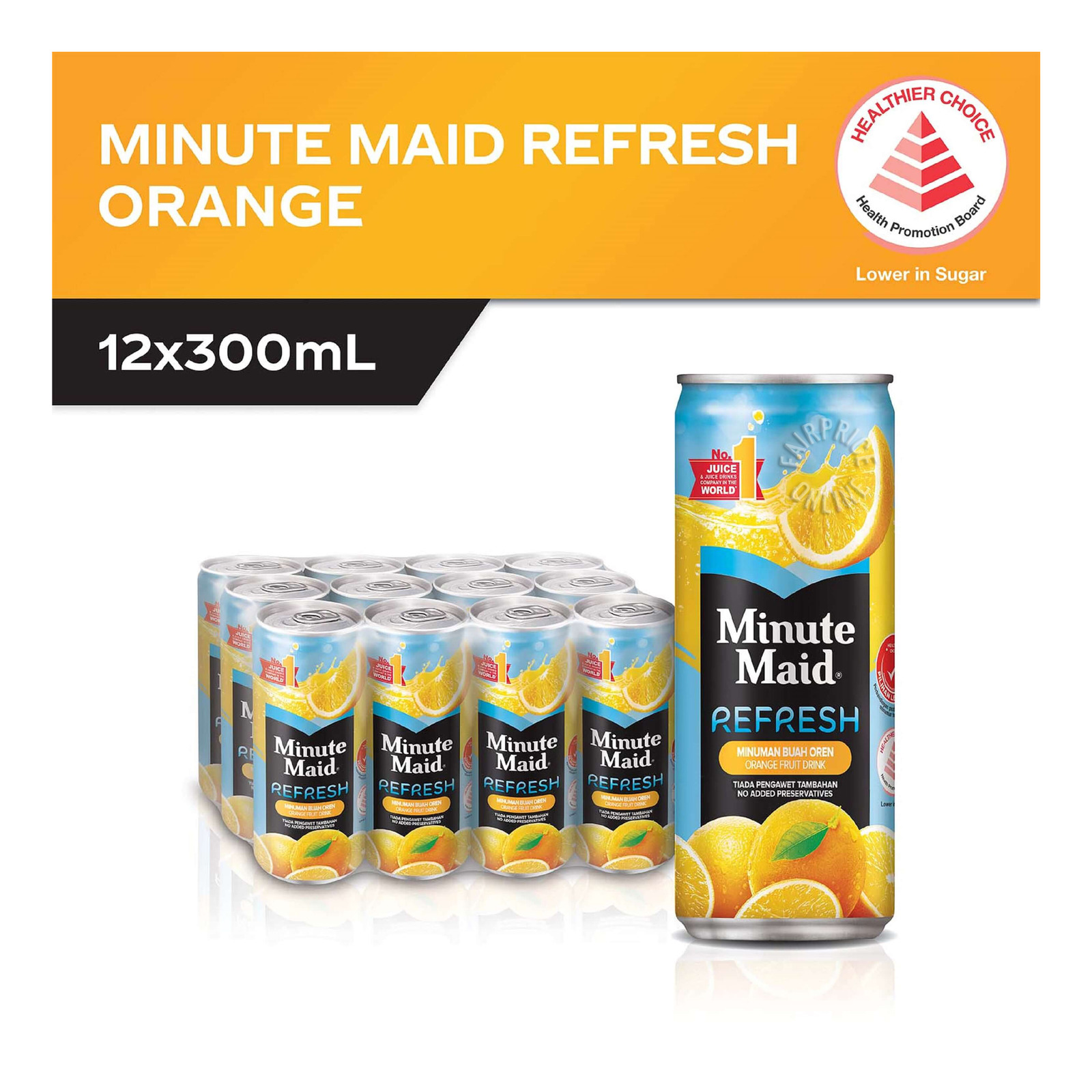 Minute Maid Refresh Fruit Can Drink - Orange