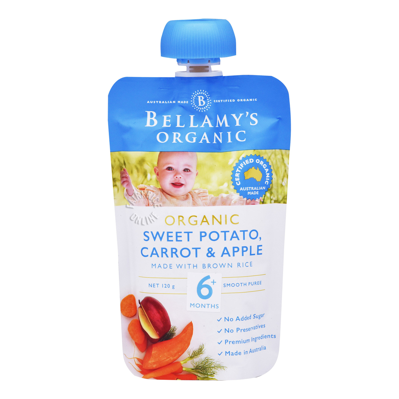 Bellamy's Organic Baby Snack - Sweet Potato, Carrot & Apple