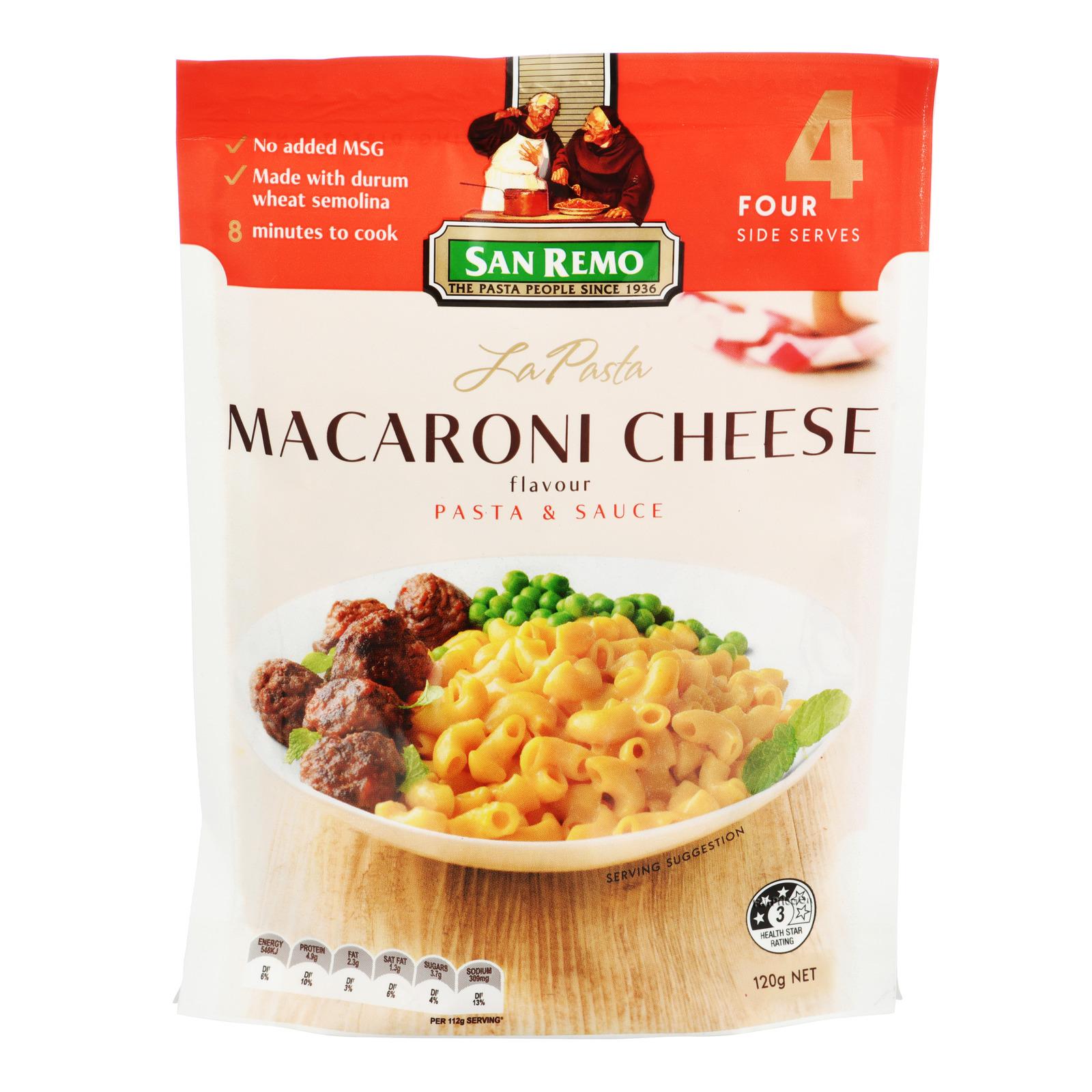 SAN REMO La Pasta - Macaroni Cheese Flavour 120g