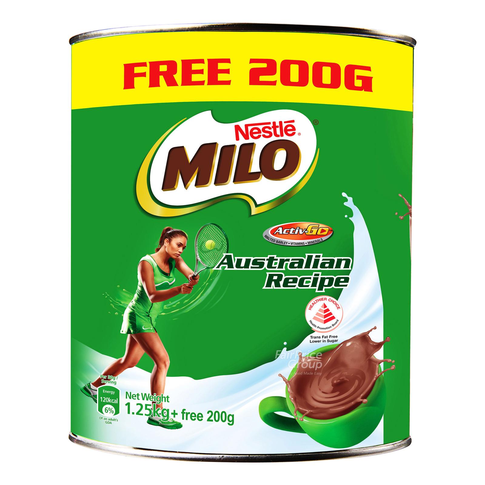 Milo Instant Chocolate Malt Drink Powder - Australian Recipe