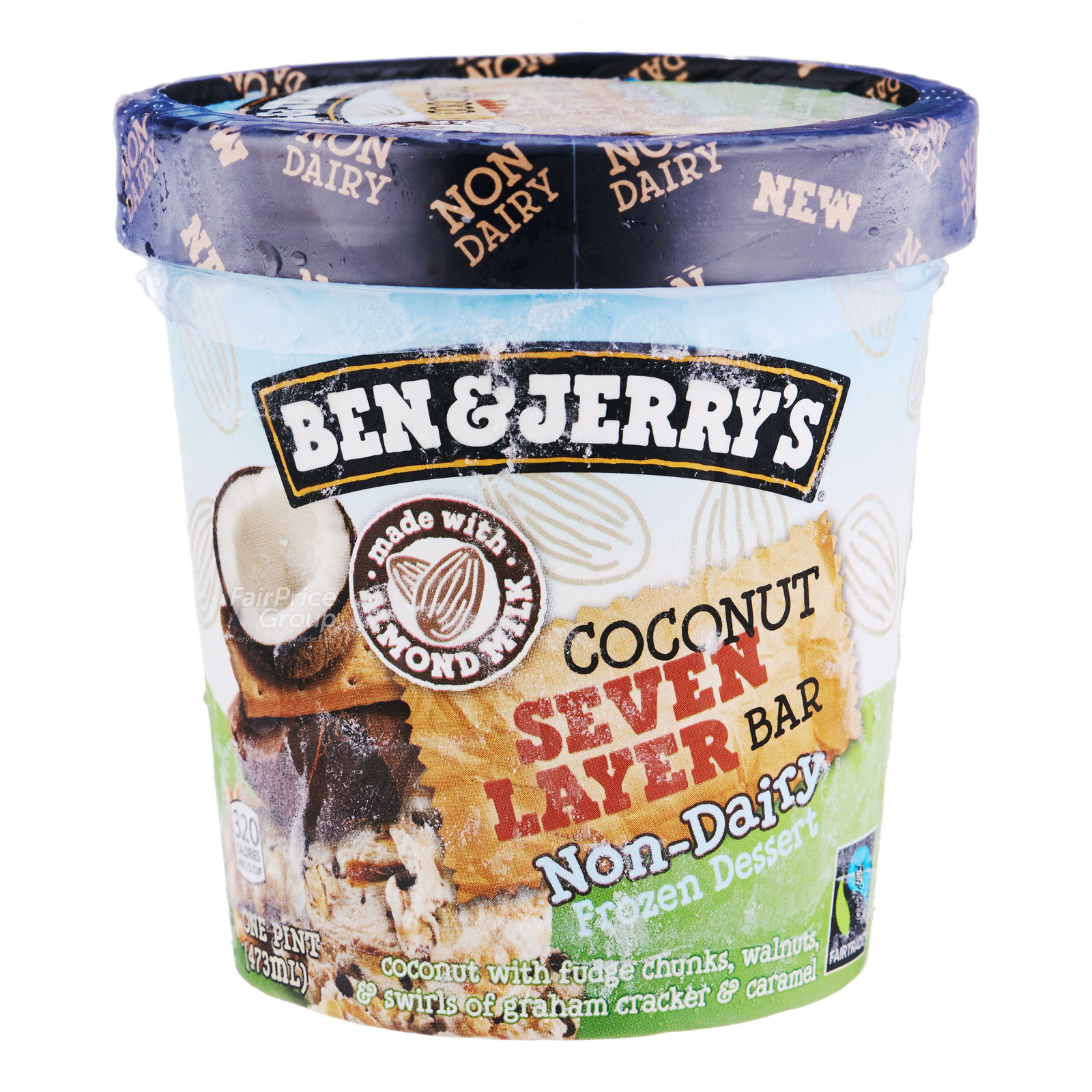 Ben & Jerry's Non-Dairy Ice Cream - Coconut Seven Layer Bar