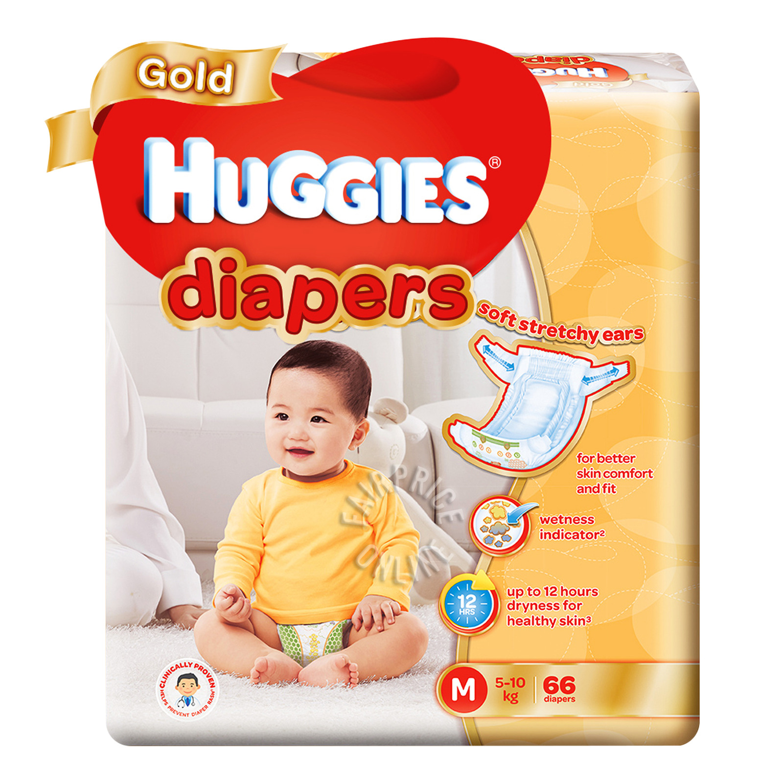 Huggies Gold Diapers - M (5 - 10kg)