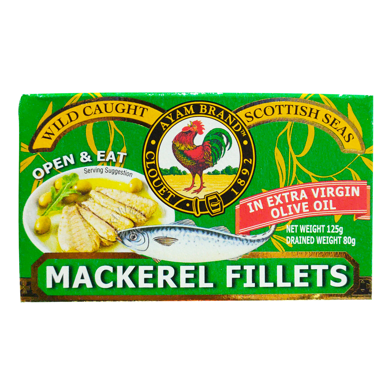 Ayam Brand Mackerel Fillets - Extra Virgin Olive Oil