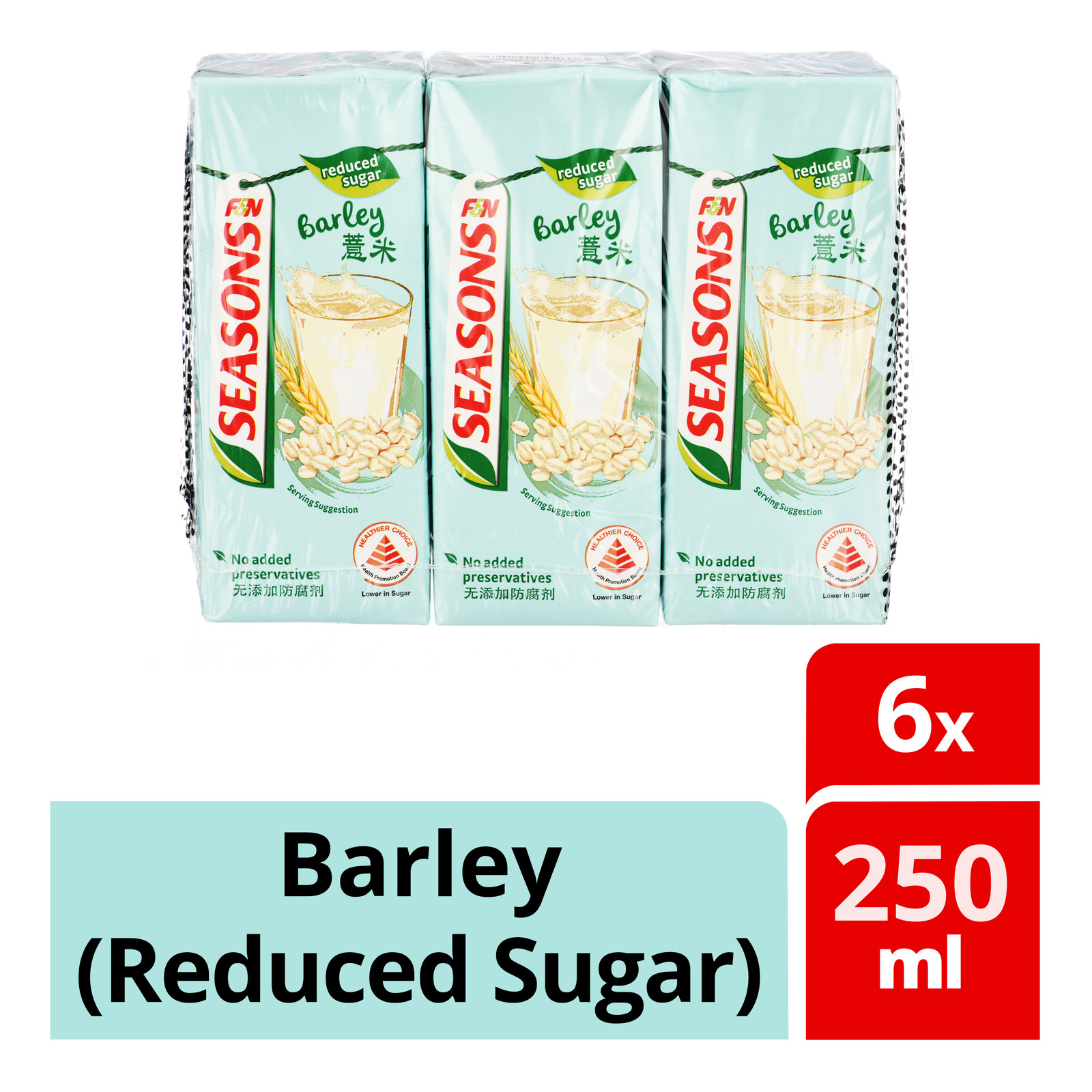 F&N Seasons Packet Drink - Barley (Reduced Sugar)