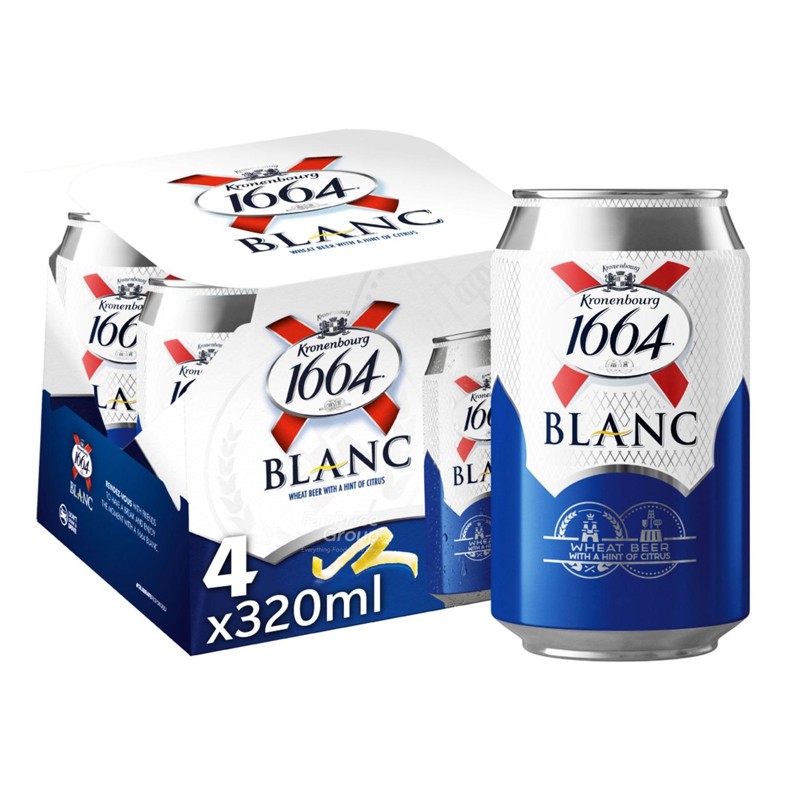 Kronenbourg 1664 Can Beer - Blanc
