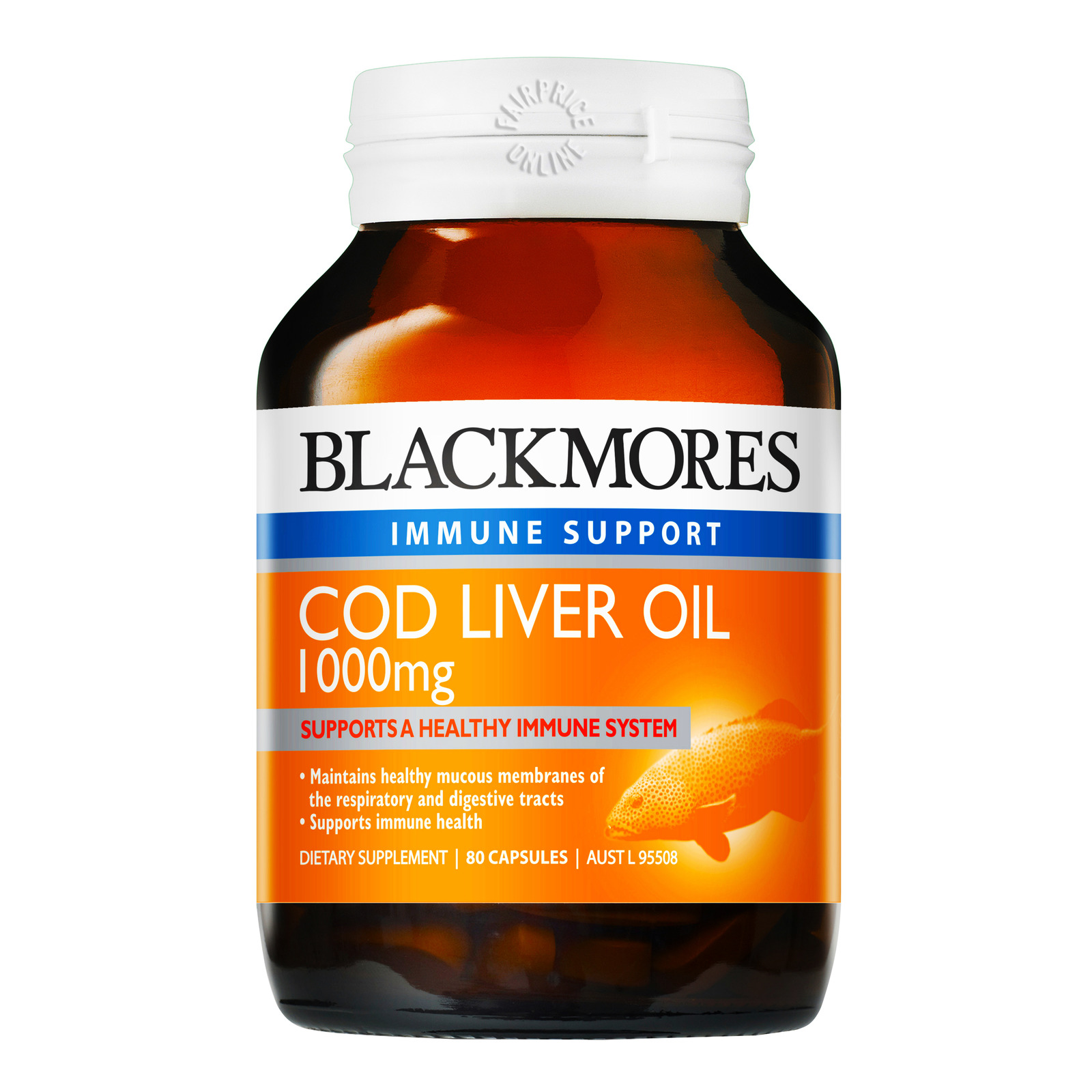 Blackmores Immune Support Supplement - Cod Liver Oil100mg