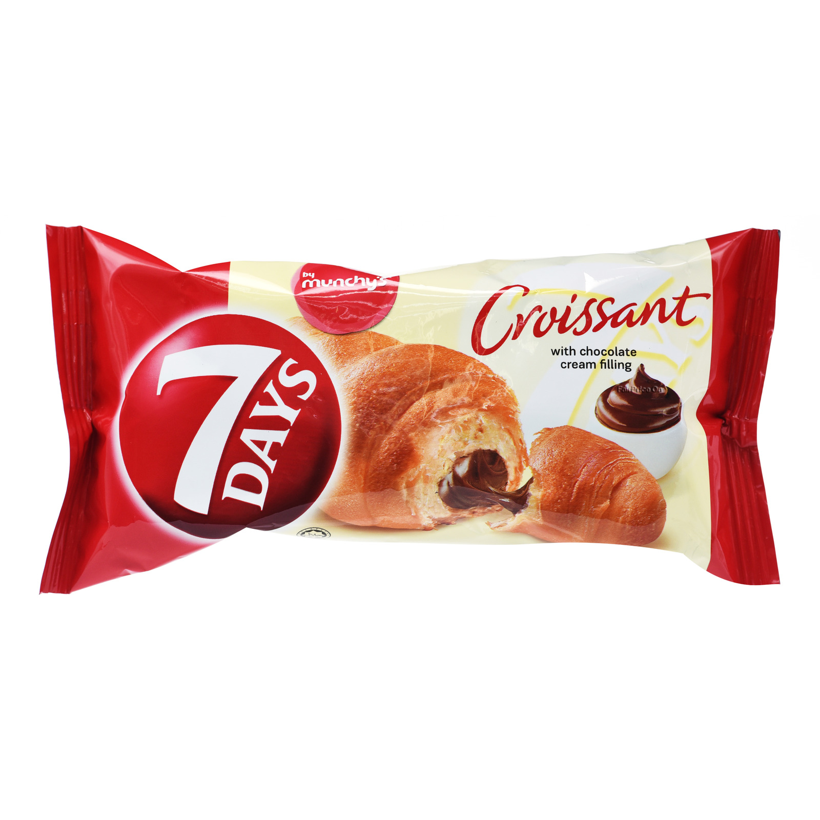 Munchy's 7 Days Croissant Cream Bun - Chocolate