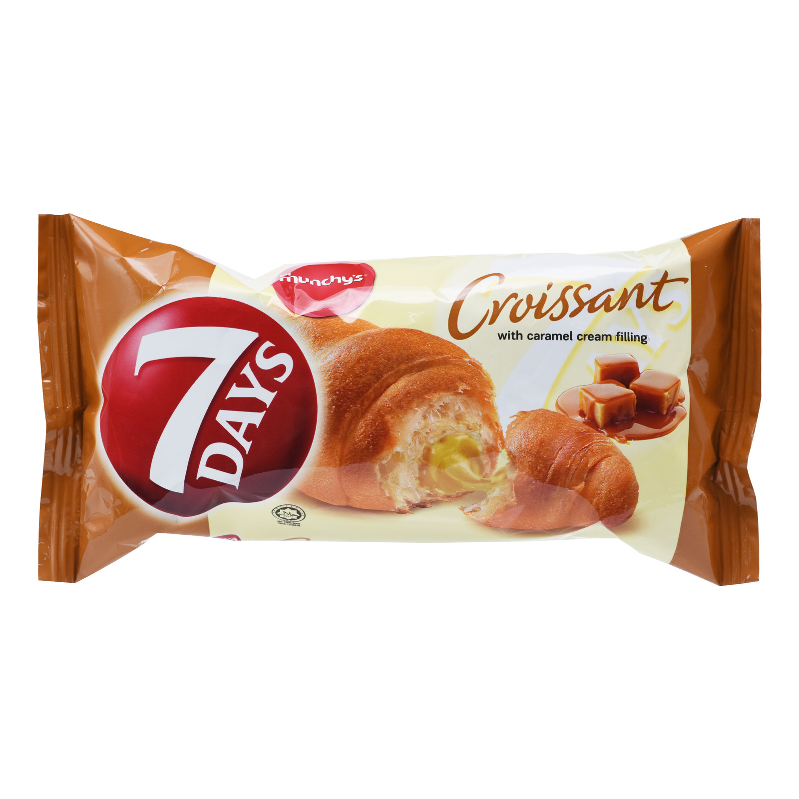 Munchy's 7 Days Croissant Cream Bun - Caramel