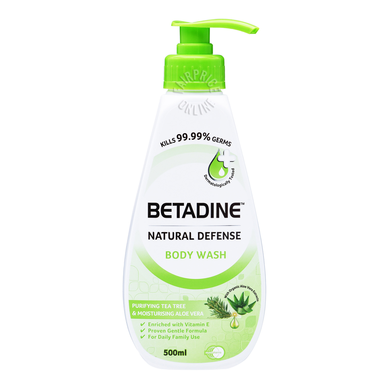 Betadine Natural Defense Body Wash - Tea Tree & Aloe Vera