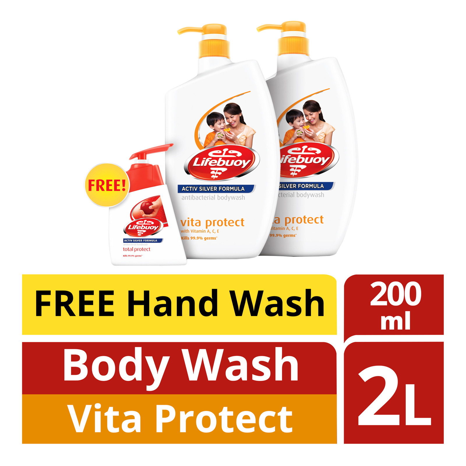Lifebuoy Antibacterial Body Wash -VitaProtect+HandWash