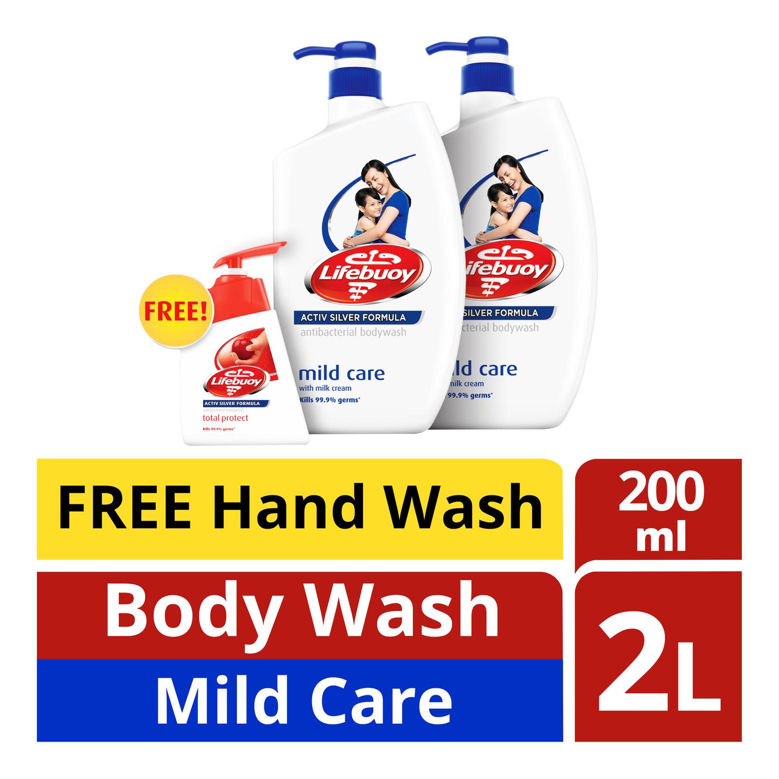 Lifebuoy Antibacterial Body Wash - Mild Care+HandWash