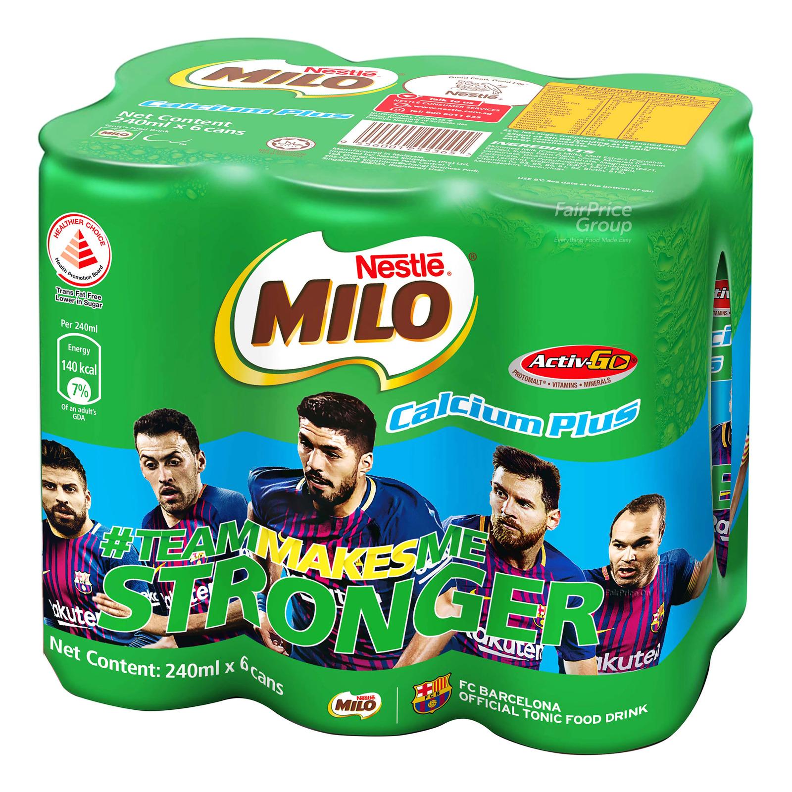 Milo Chocolate Malt Can Drink - Calcium Plus