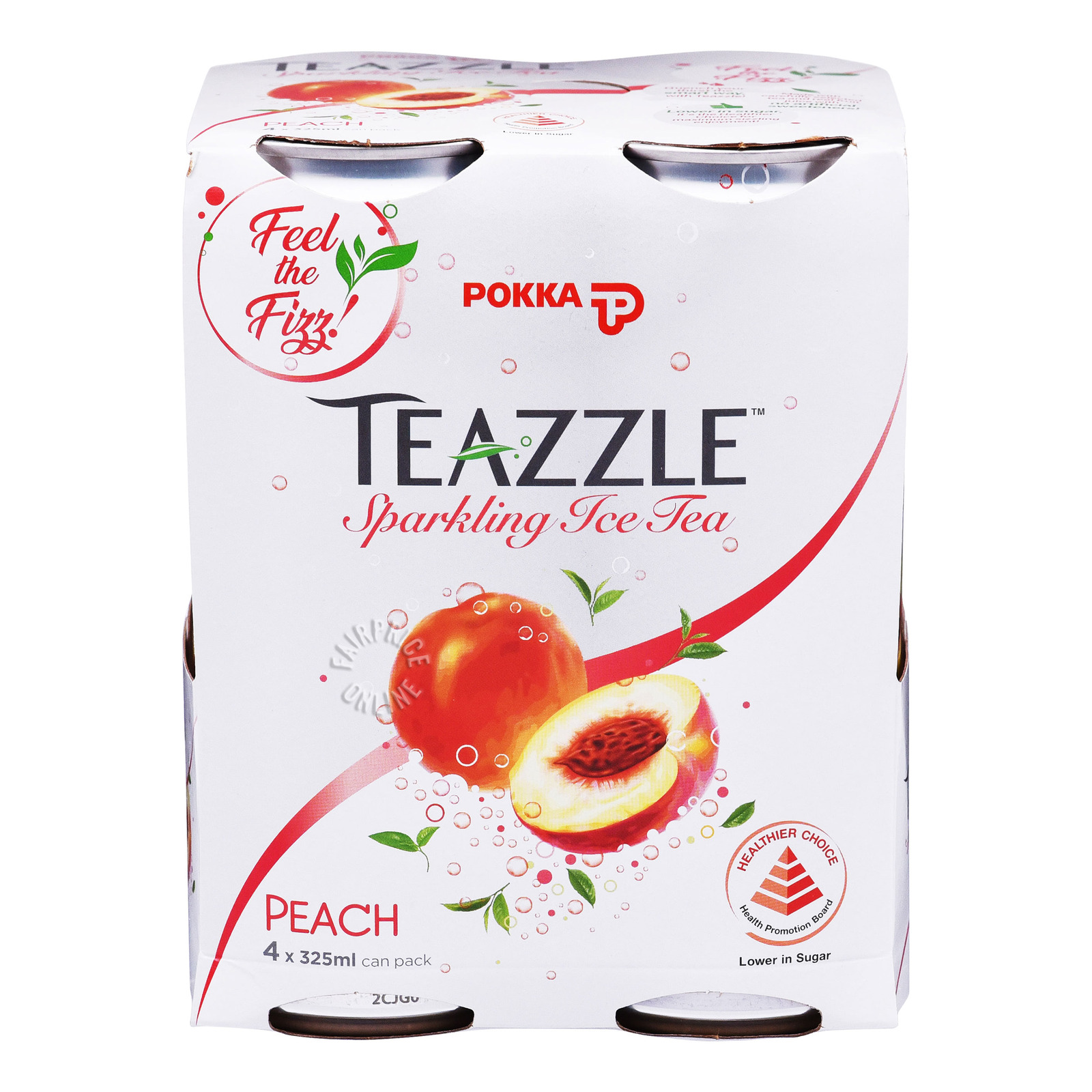 Pokka Tezzale Sparkling Ice Tea Can Drink - Peach
