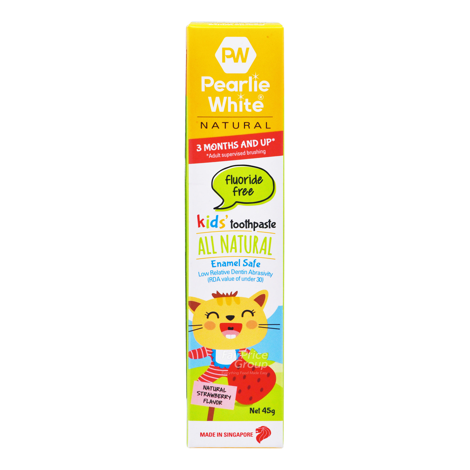 Pearlie White Natural Kids Toothpaste - Natural Strawberry