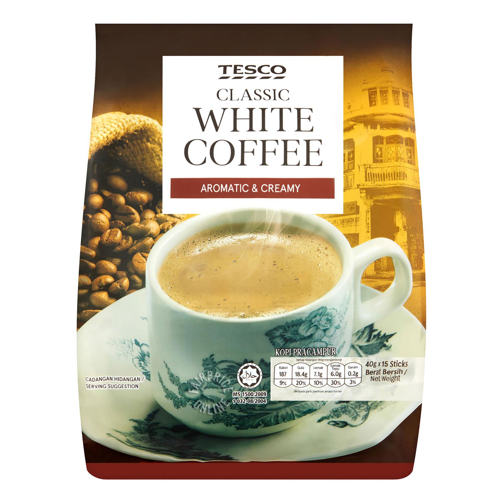 Tesco 3 in 1 Instant White Coffee - Original