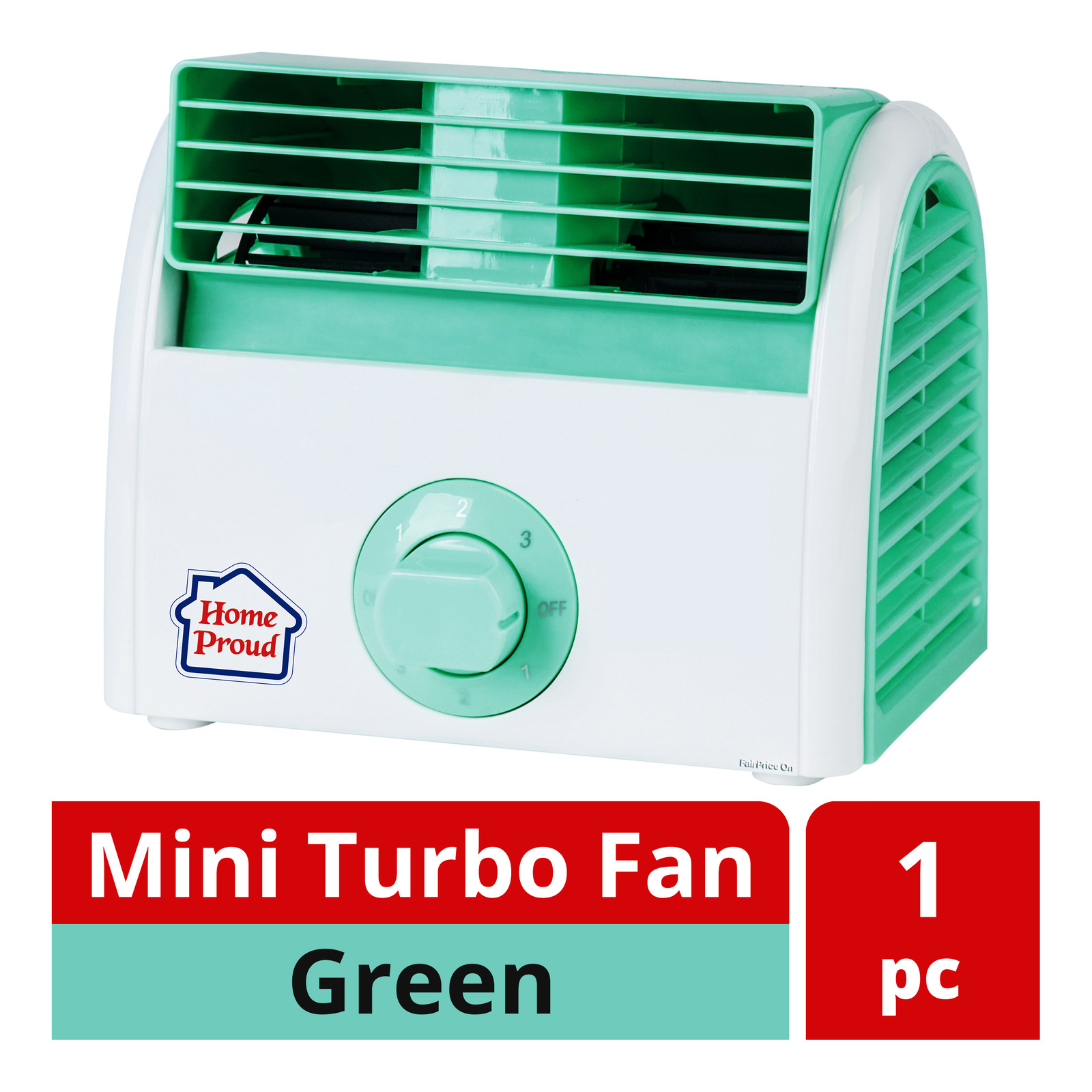 HomeProud Mini Turbo Fan - Green (HP07)