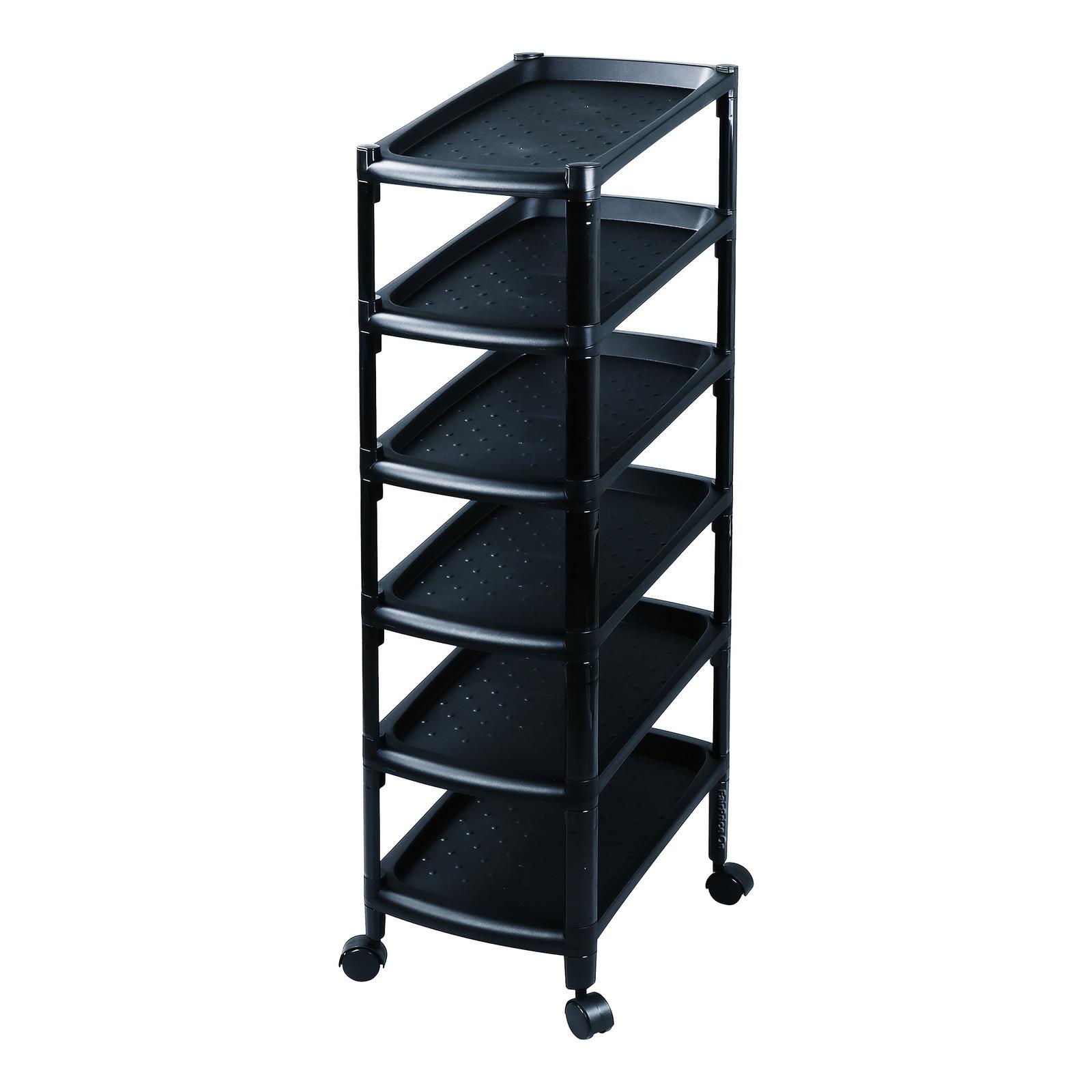 HomeProud 6 Tier Shoe Rack - Black