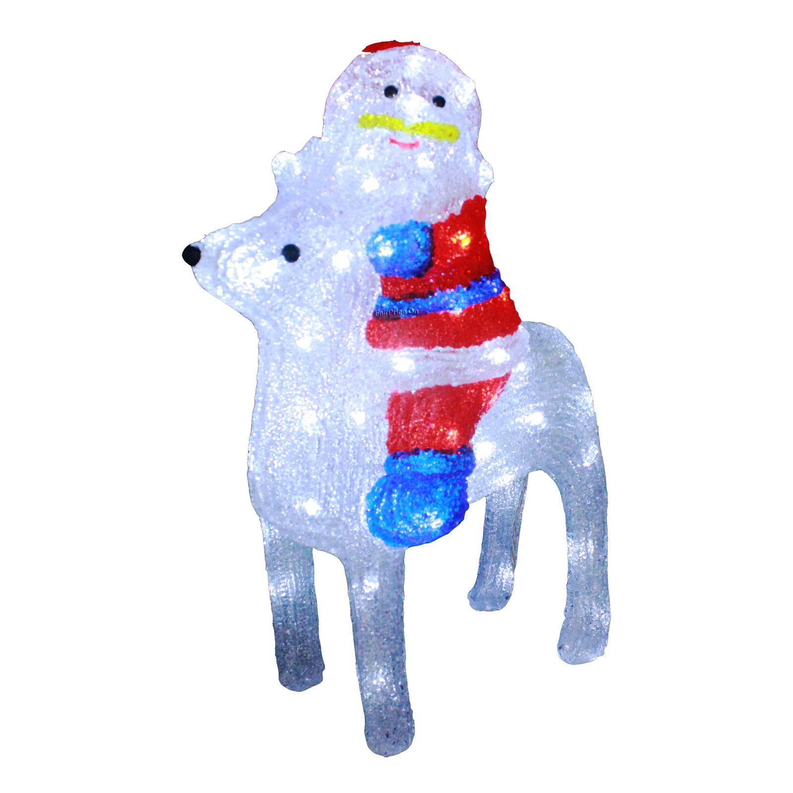 Imported Lighted Santa & Reindeer
